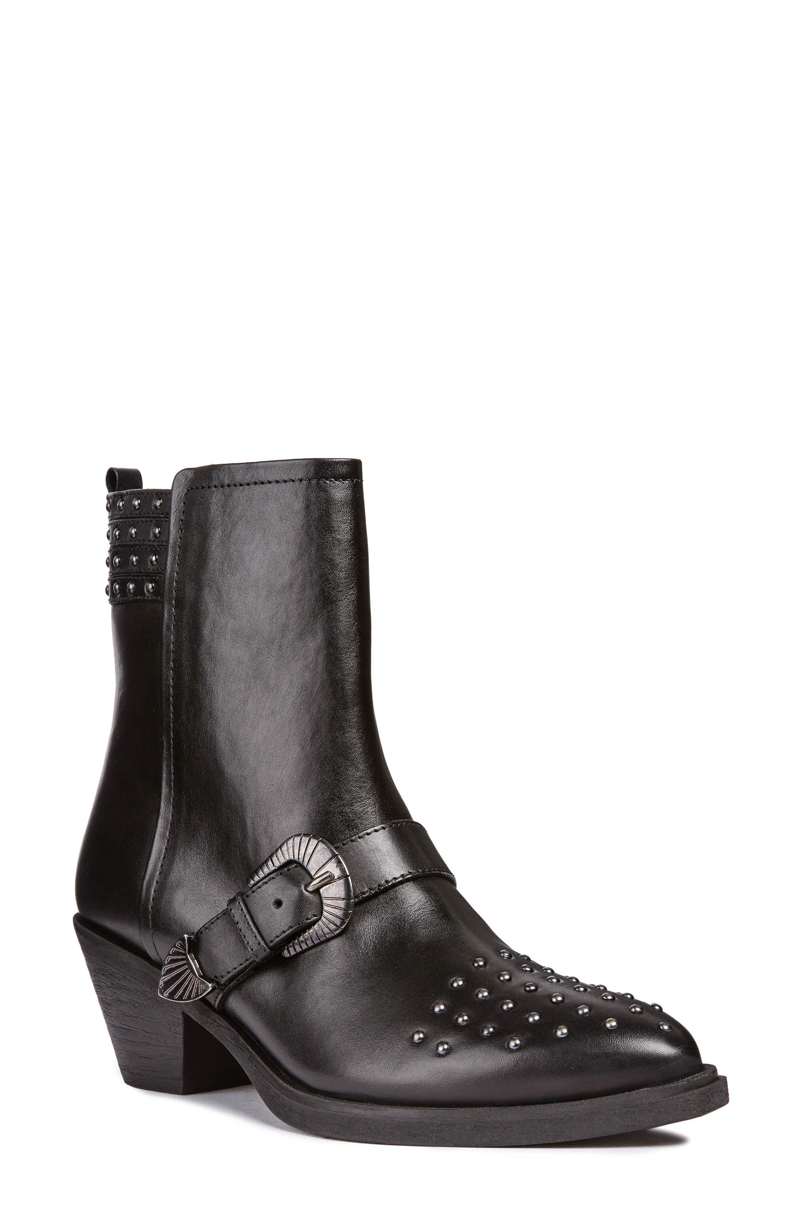 Lovai Bootie,                             Main thumbnail 1, color,                             BLACK LEATHER
