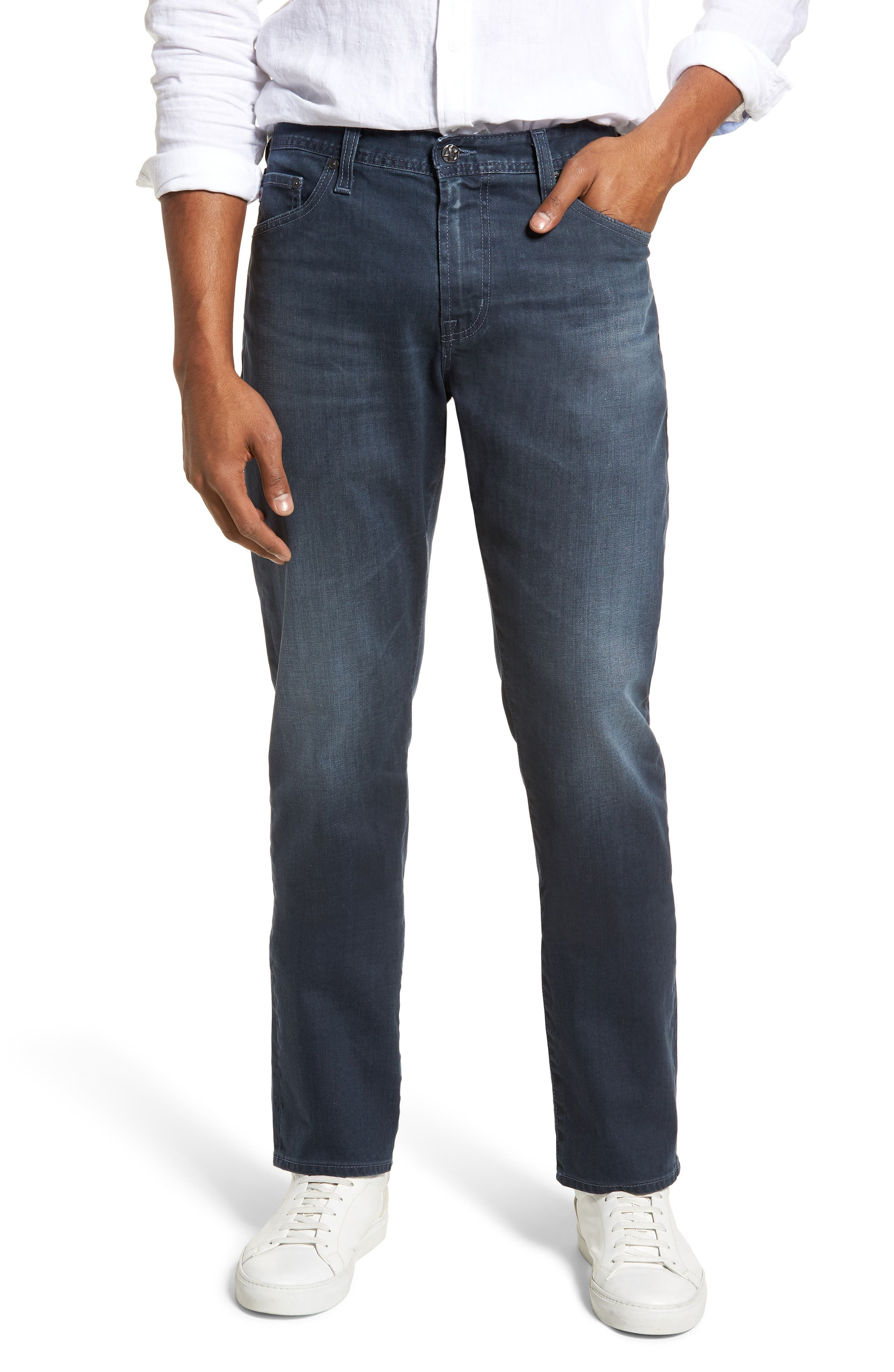 Everett Slim Straight Leg Jeans,                         Main,                         color, 9 YEARS TIDEPOOL