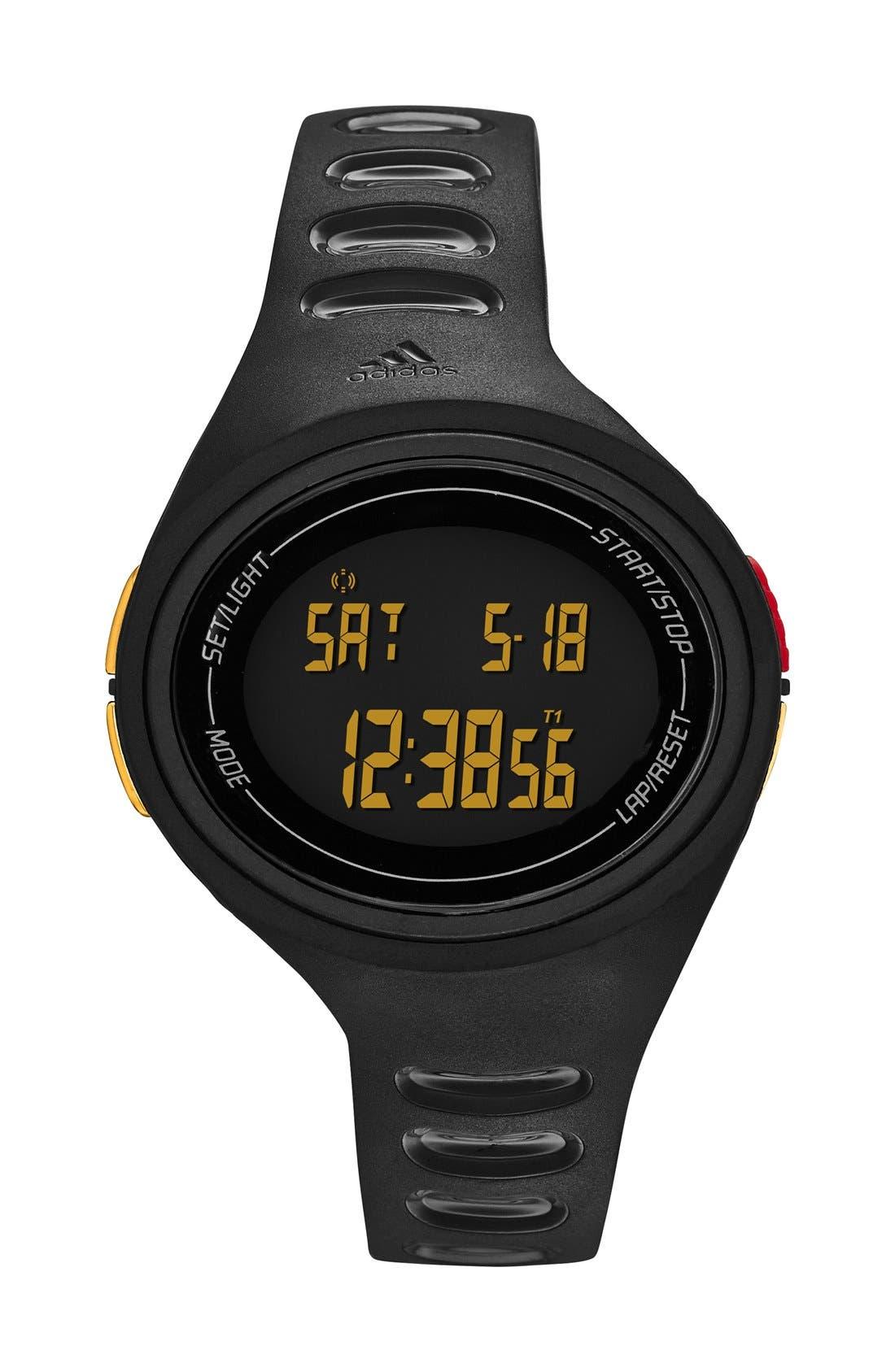 'Adizero' Digital Watch, 43mm x 38mm,                             Main thumbnail 1, color,