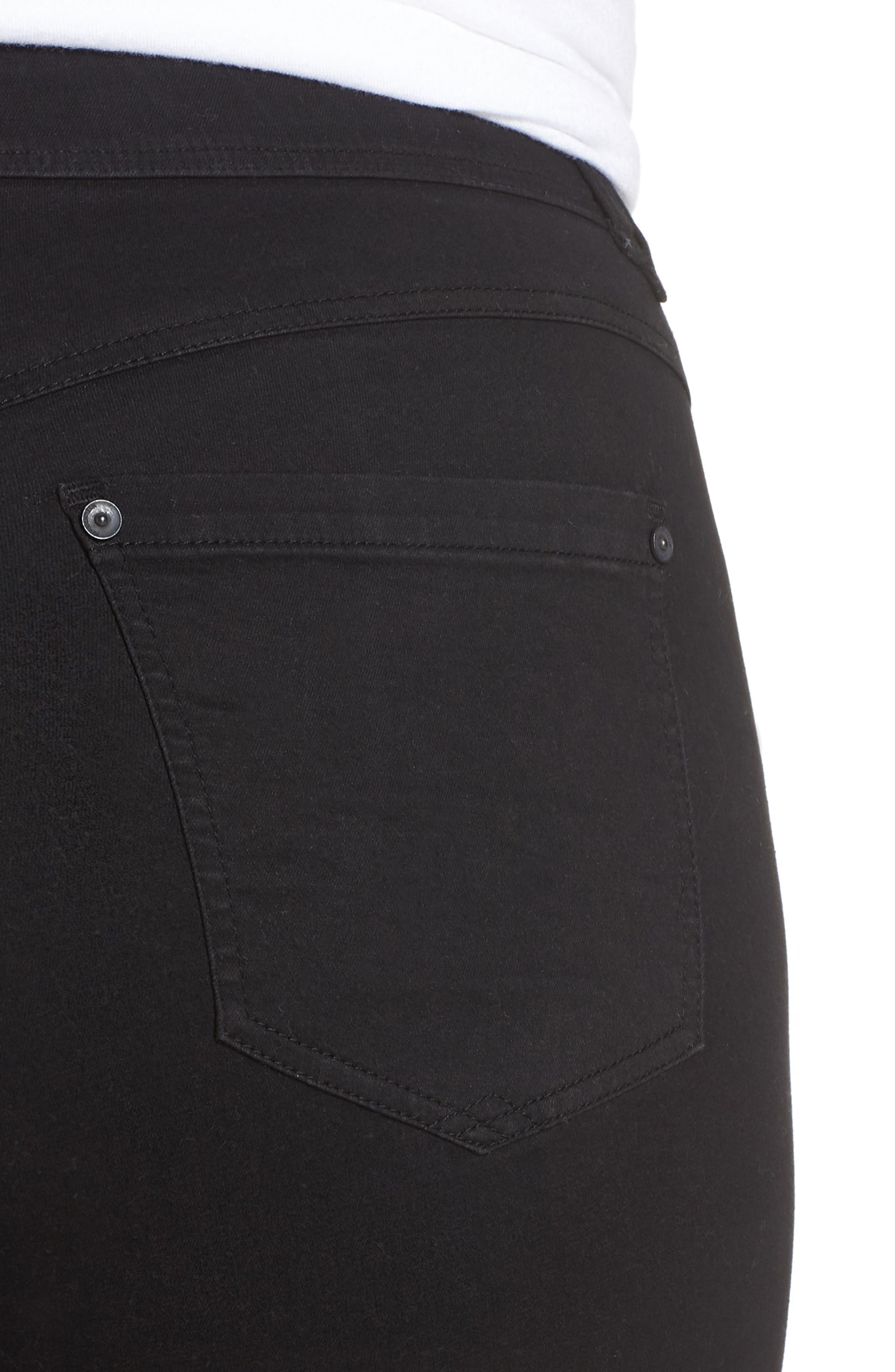 Ab-solution Itty Bitty Bootcut Jeans,                             Alternate thumbnail 4, color,                             BLACK