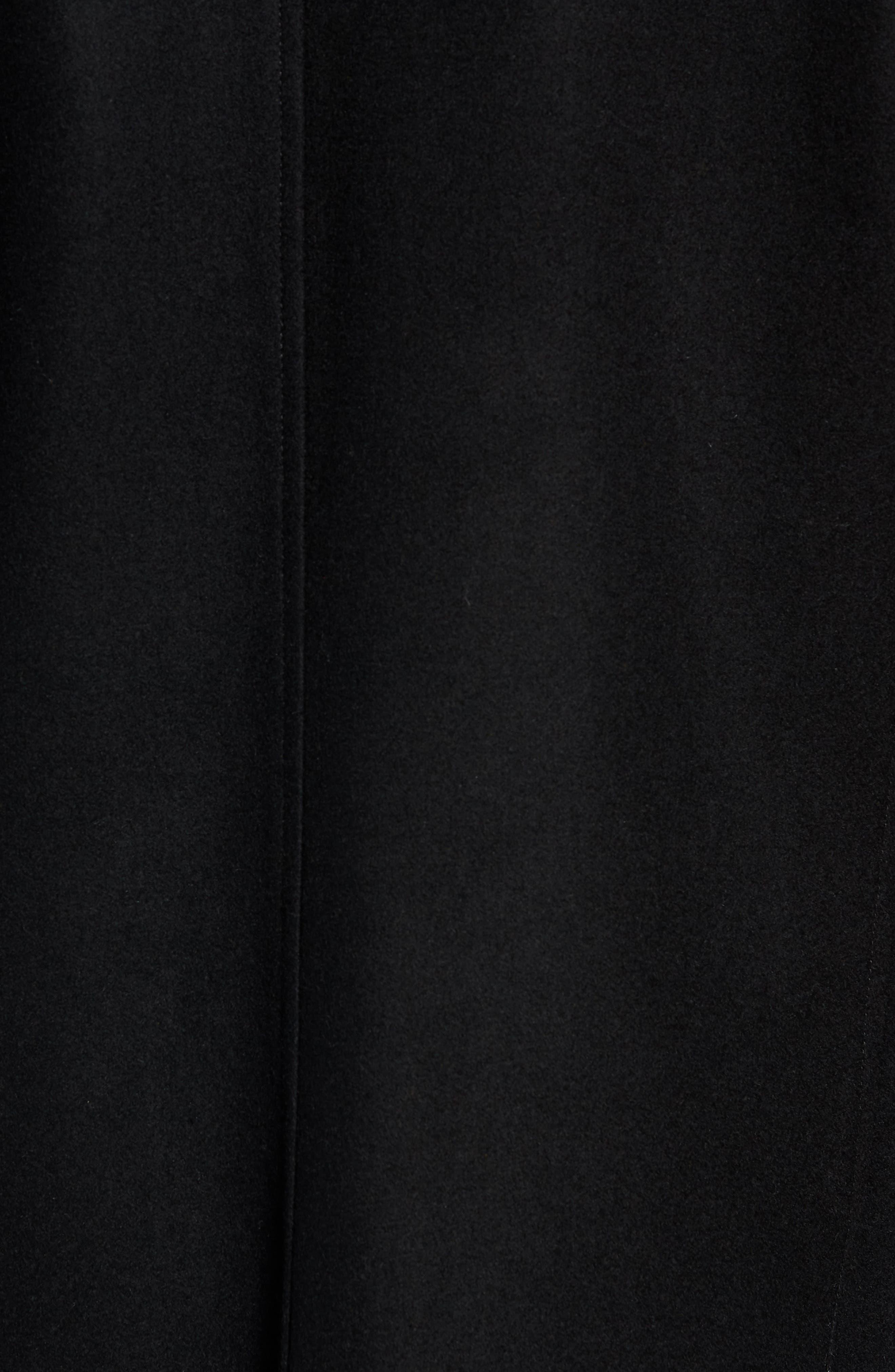 Melton Car Coat with Removable Bib,                             Alternate thumbnail 7, color,                             BLACK