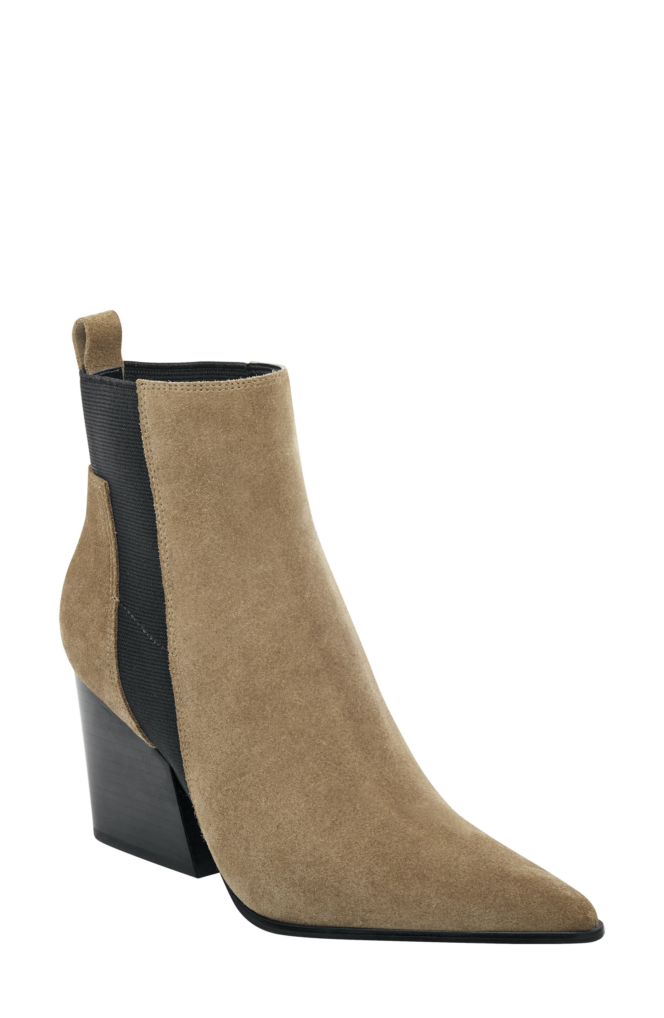 Pointy Toe Chelsea Bootie,                         Main,                         color, TAUPE