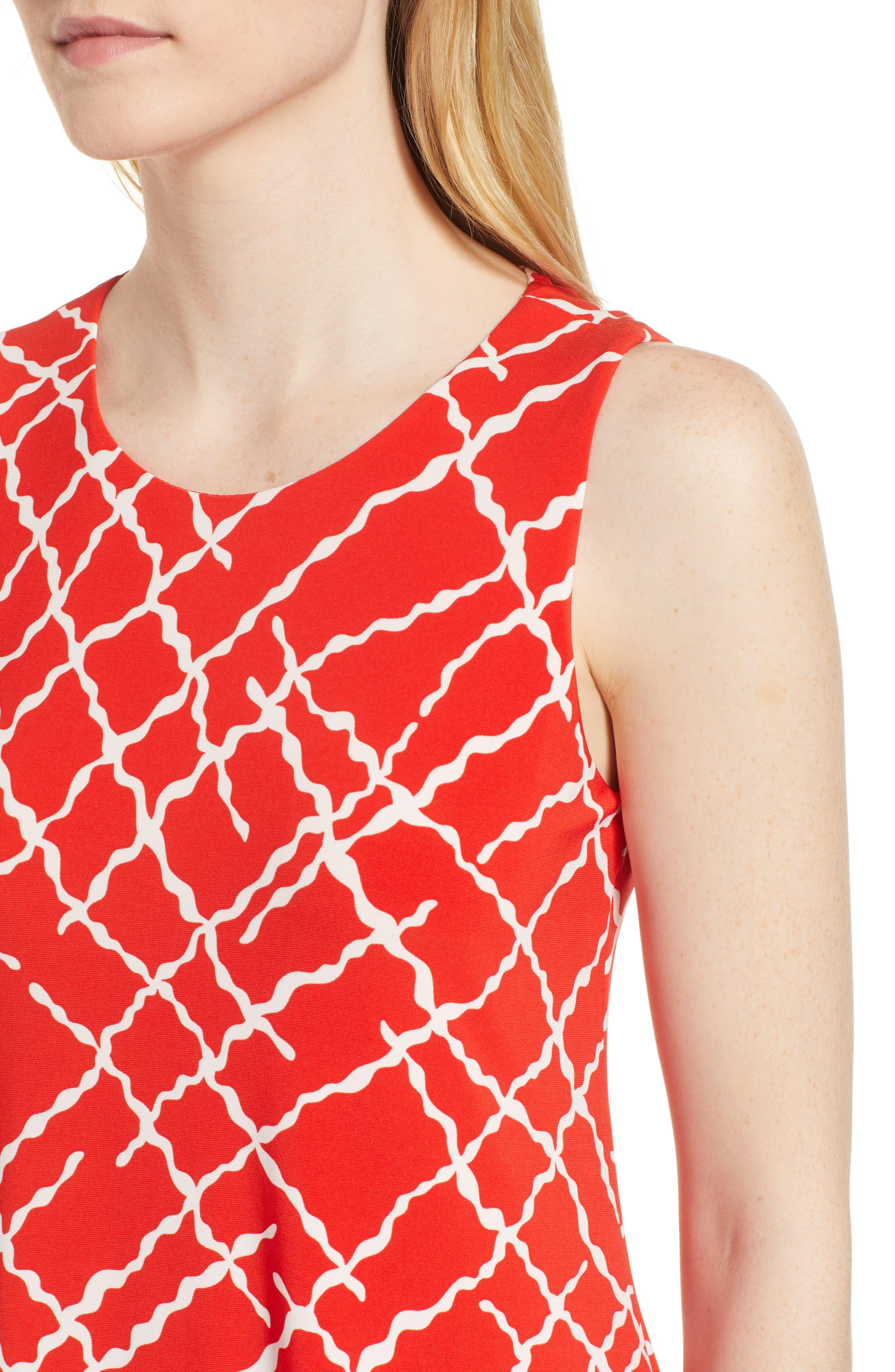 Print Swing Dress,                             Alternate thumbnail 9, color,