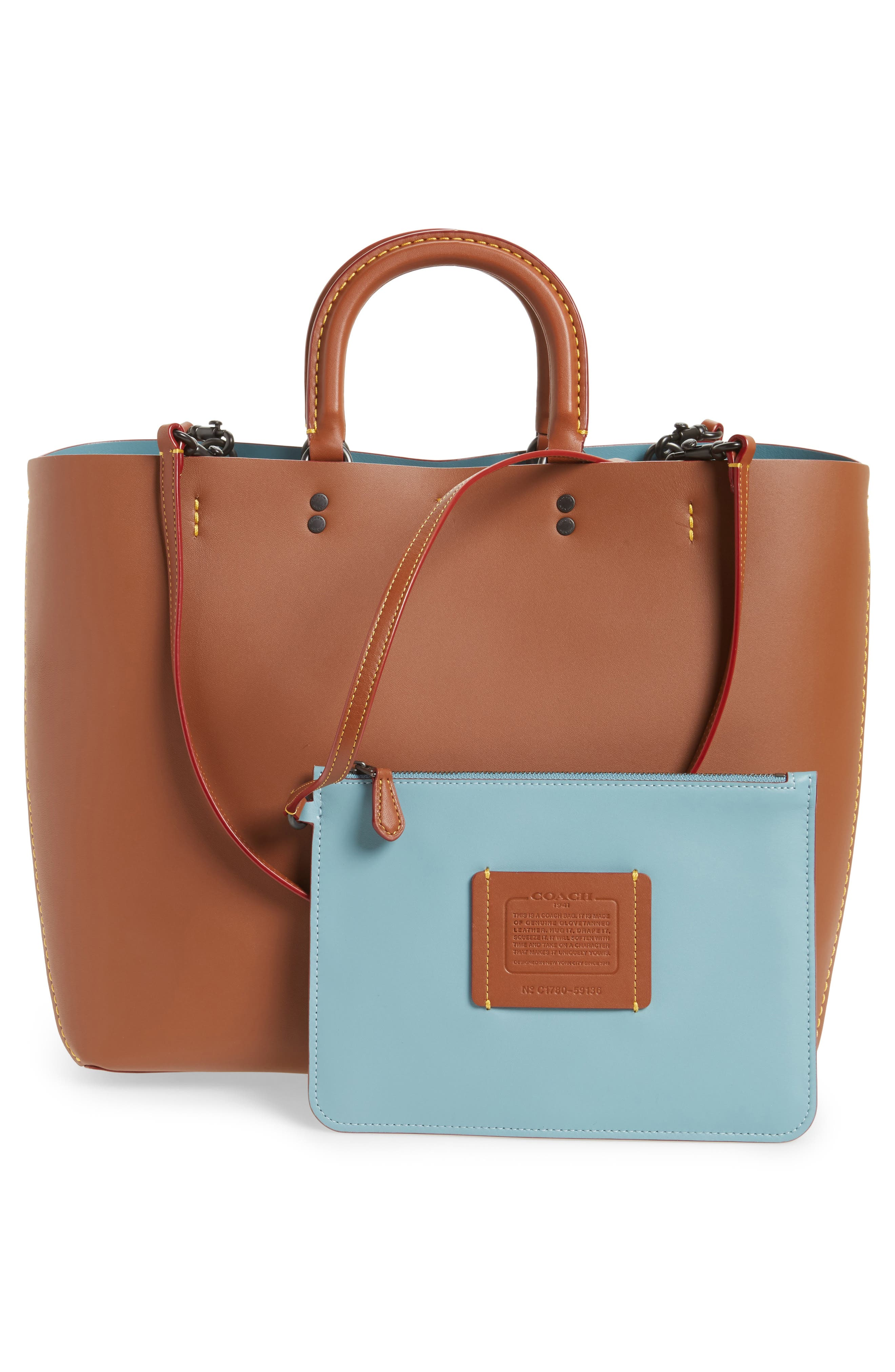 Rogue Leather Tote,                             Alternate thumbnail 3, color,                             232