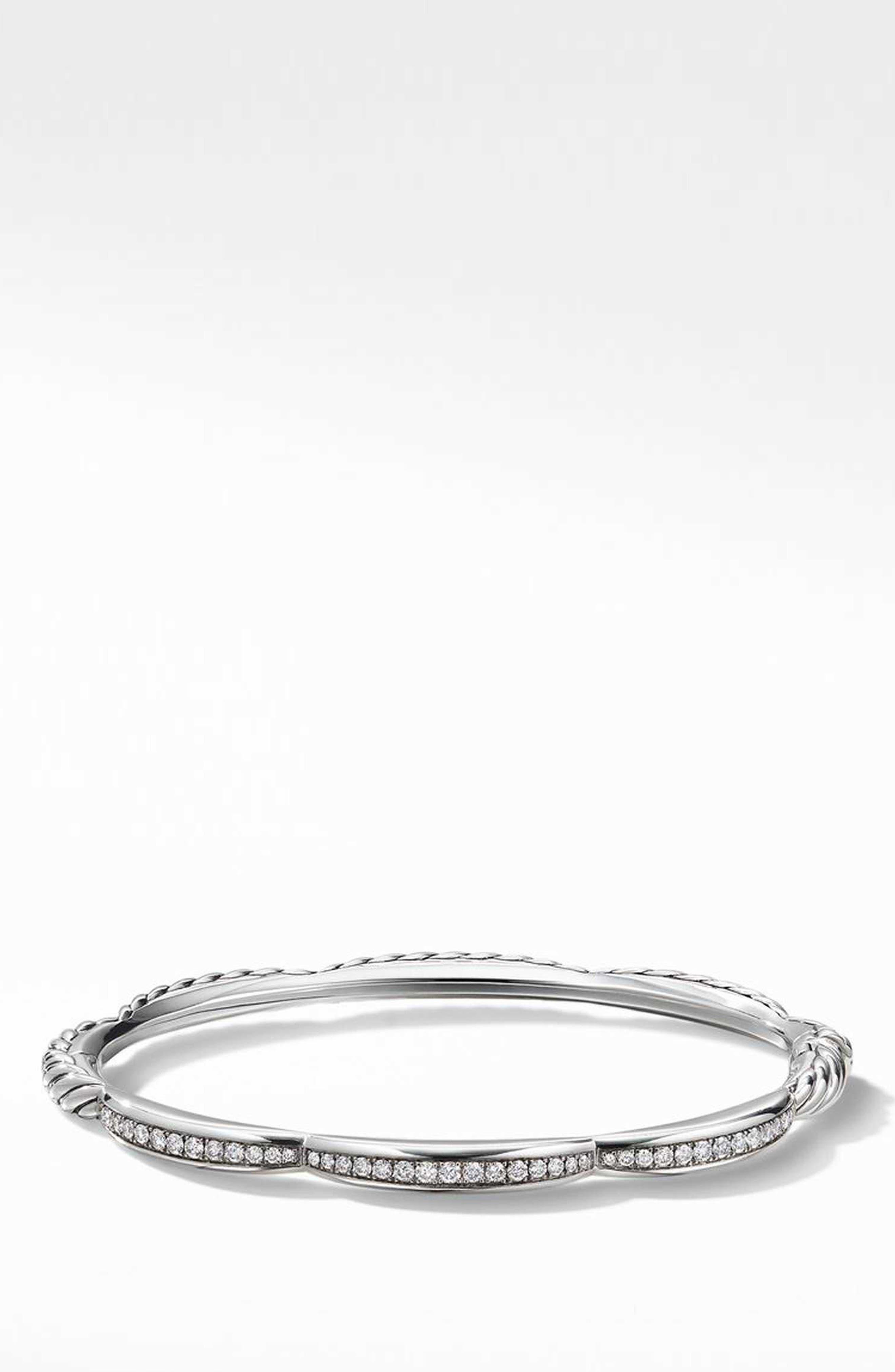 Tides 3-Station Bracelet with Diamonds,                             Main thumbnail 1, color,                             STERLING SILVER/ DIAMOND