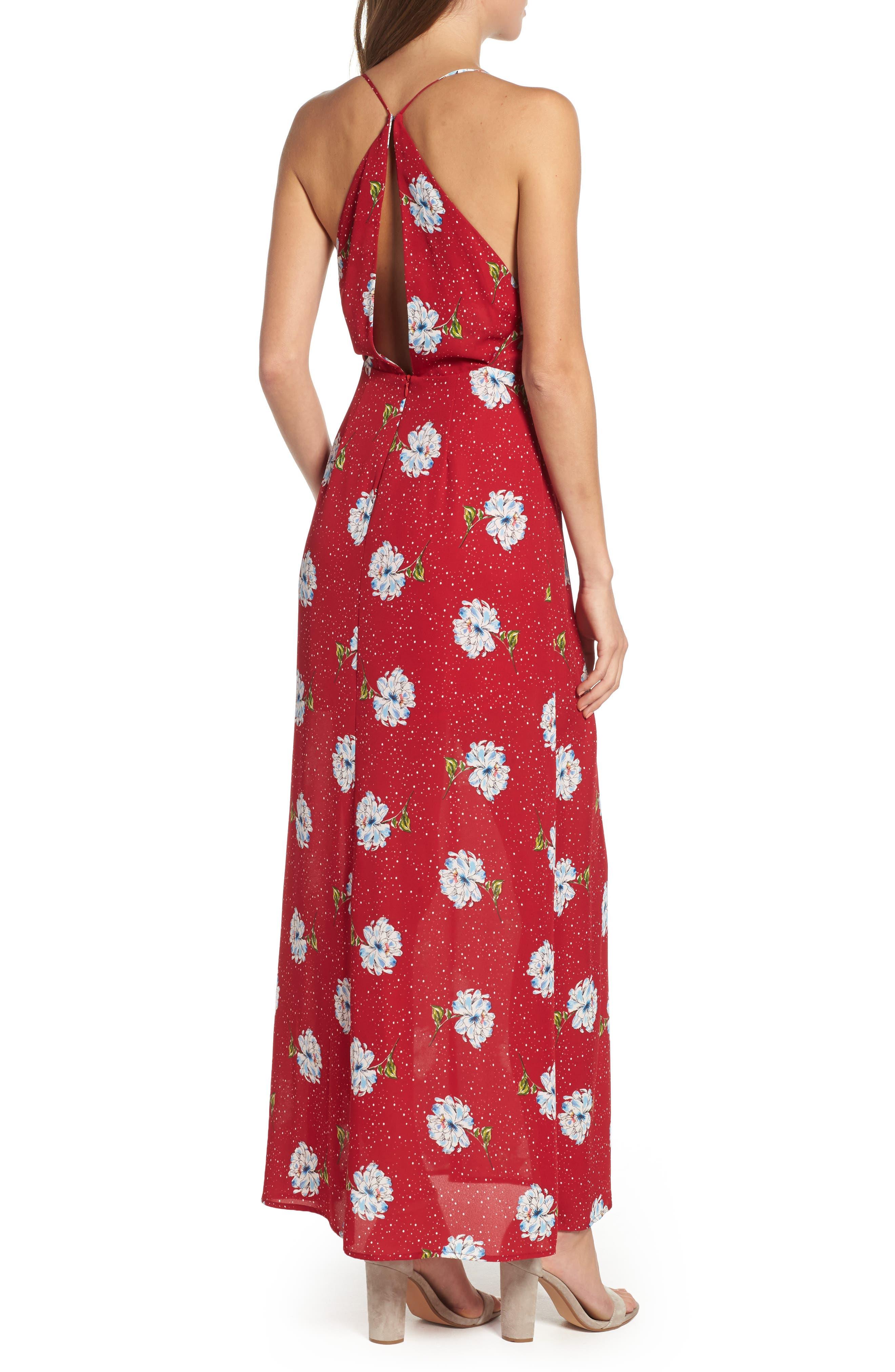 Surplice Maxi Dress,                             Alternate thumbnail 2, color,                             602