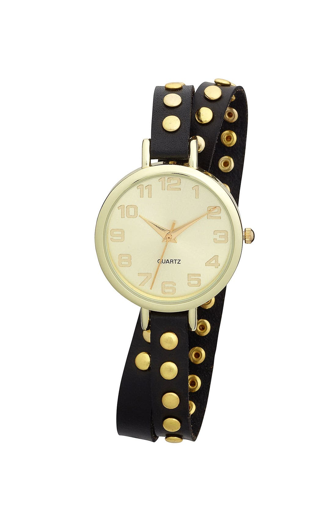 Studded Double Wrap Watch, 35mm,                         Main,                         color, 001
