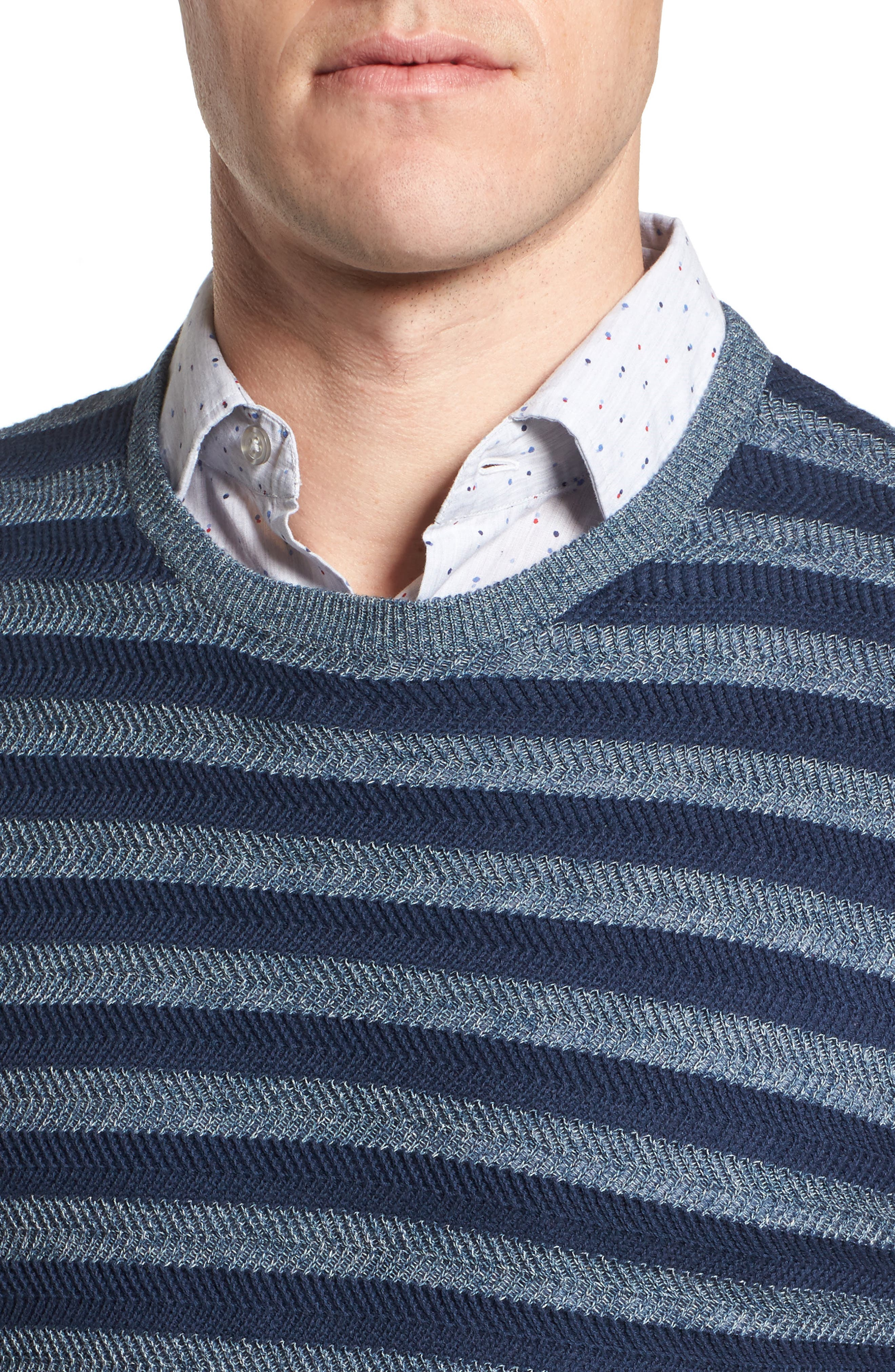 Stripe Sweater,                             Alternate thumbnail 4, color,
