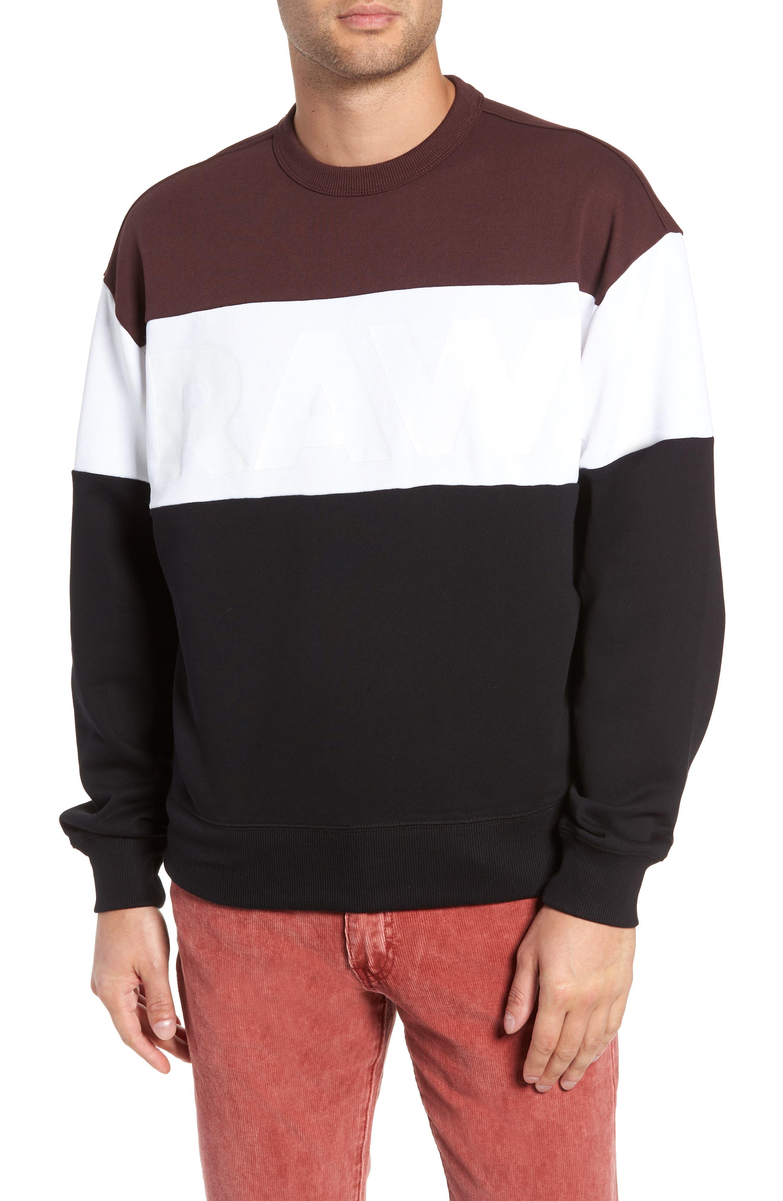 Libe Core Colorblock Sweatshirt,                             Main thumbnail 1, color,                             001