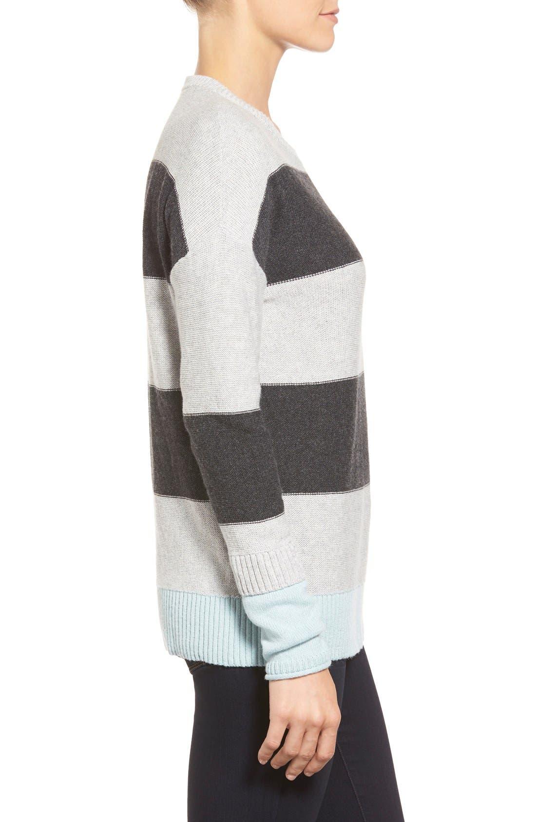 Contrast Cuff Crewneck Sweater,                             Alternate thumbnail 38, color,