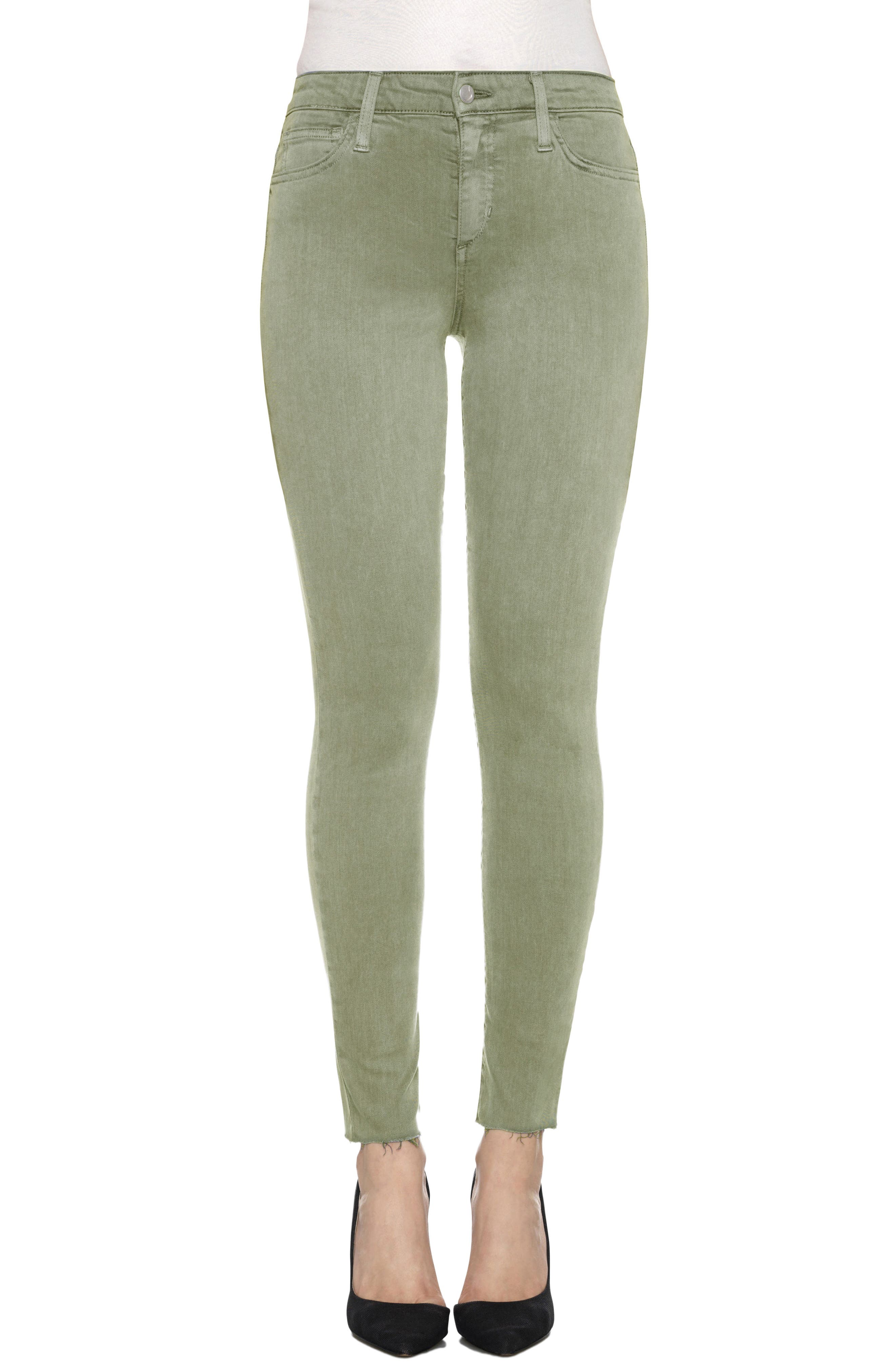 Charlie High Rise Ankle Skinny Jeans,                             Main thumbnail 4, color,