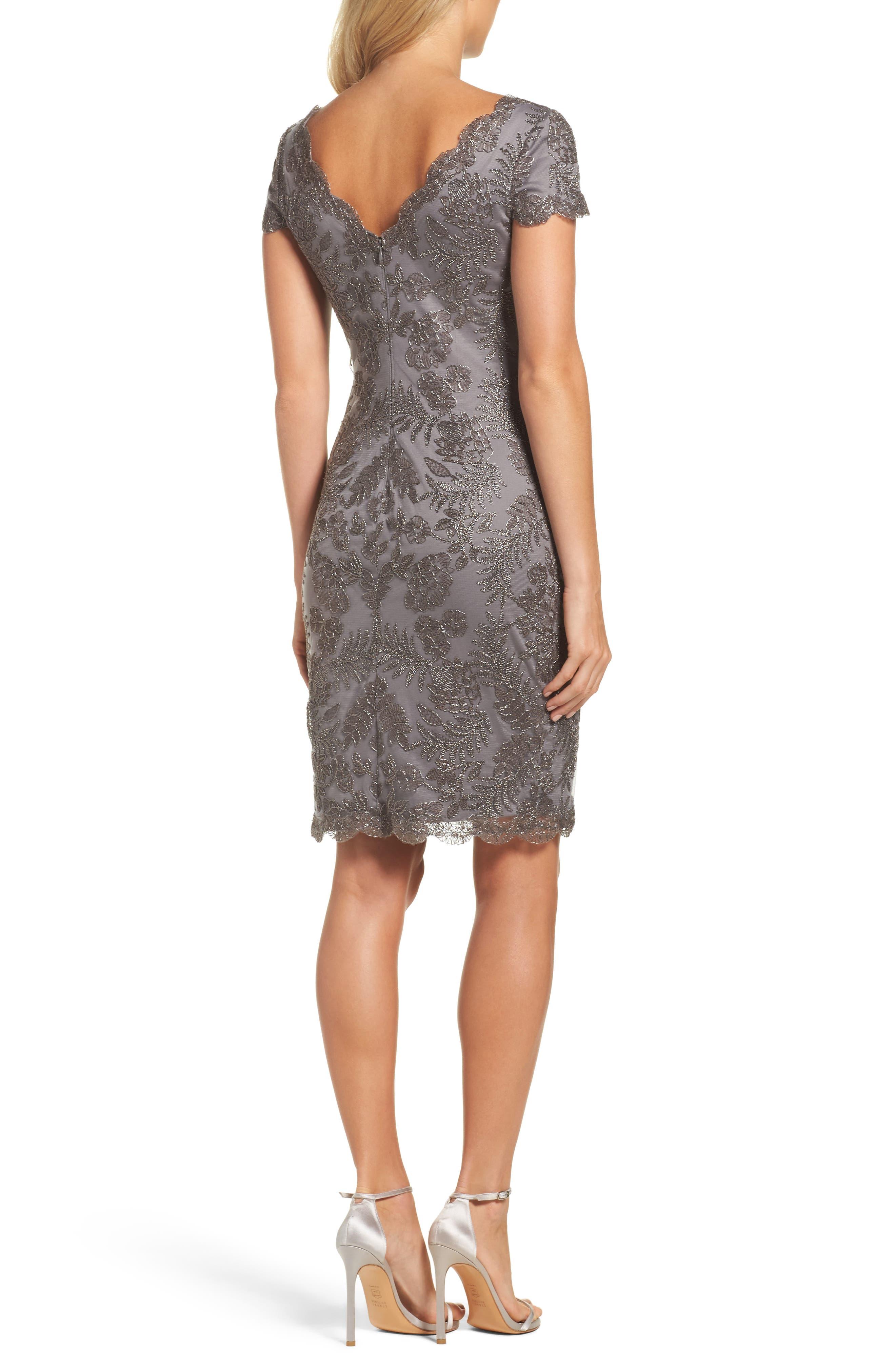 Lace Sheath Dress,                             Alternate thumbnail 2, color,                             020