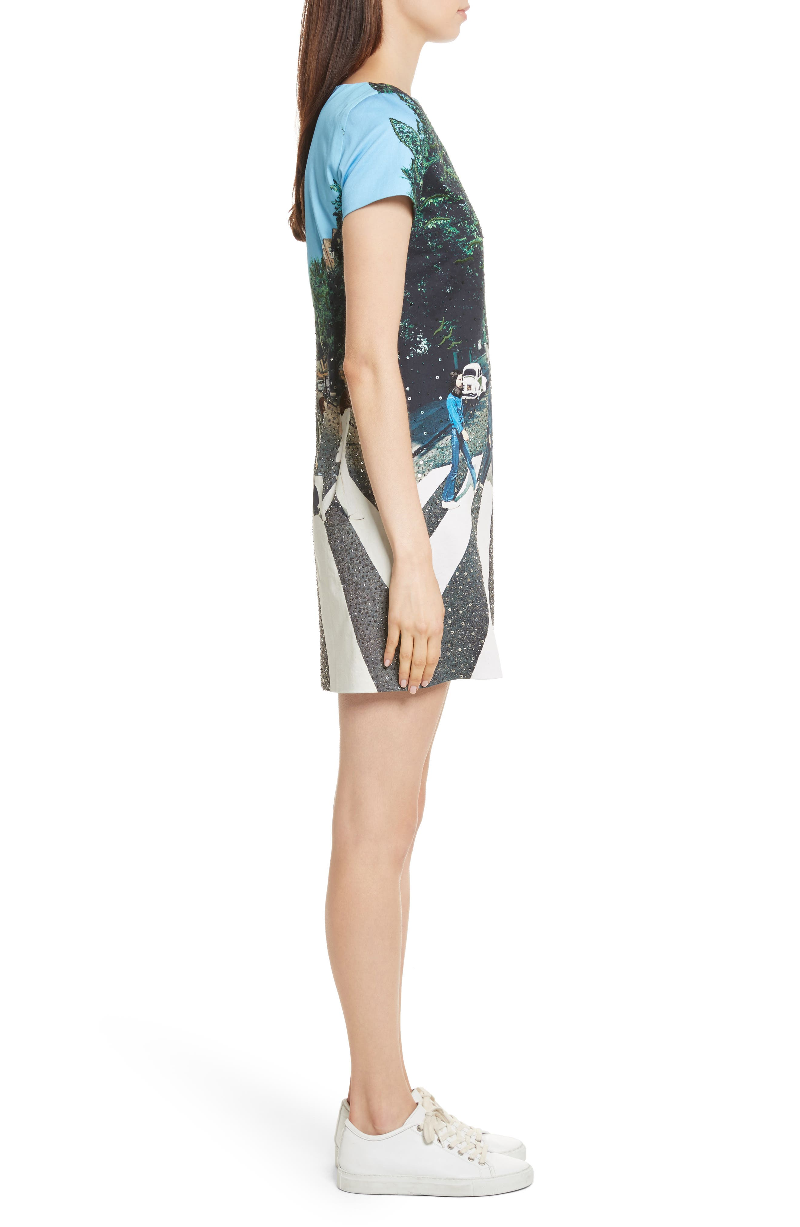 ALICE + OLIVIA,                             AO x The Beatles Sequined Shift Dress,                             Alternate thumbnail 3, color,                             473