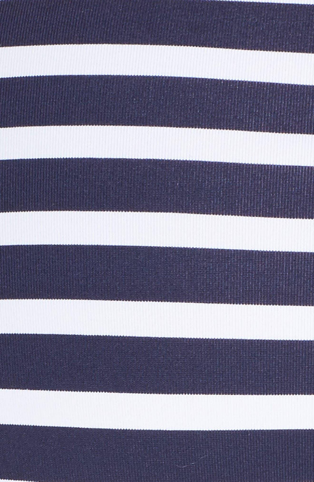 Breton Stripe Bikini Bottoms,                             Alternate thumbnail 5, color,                             400
