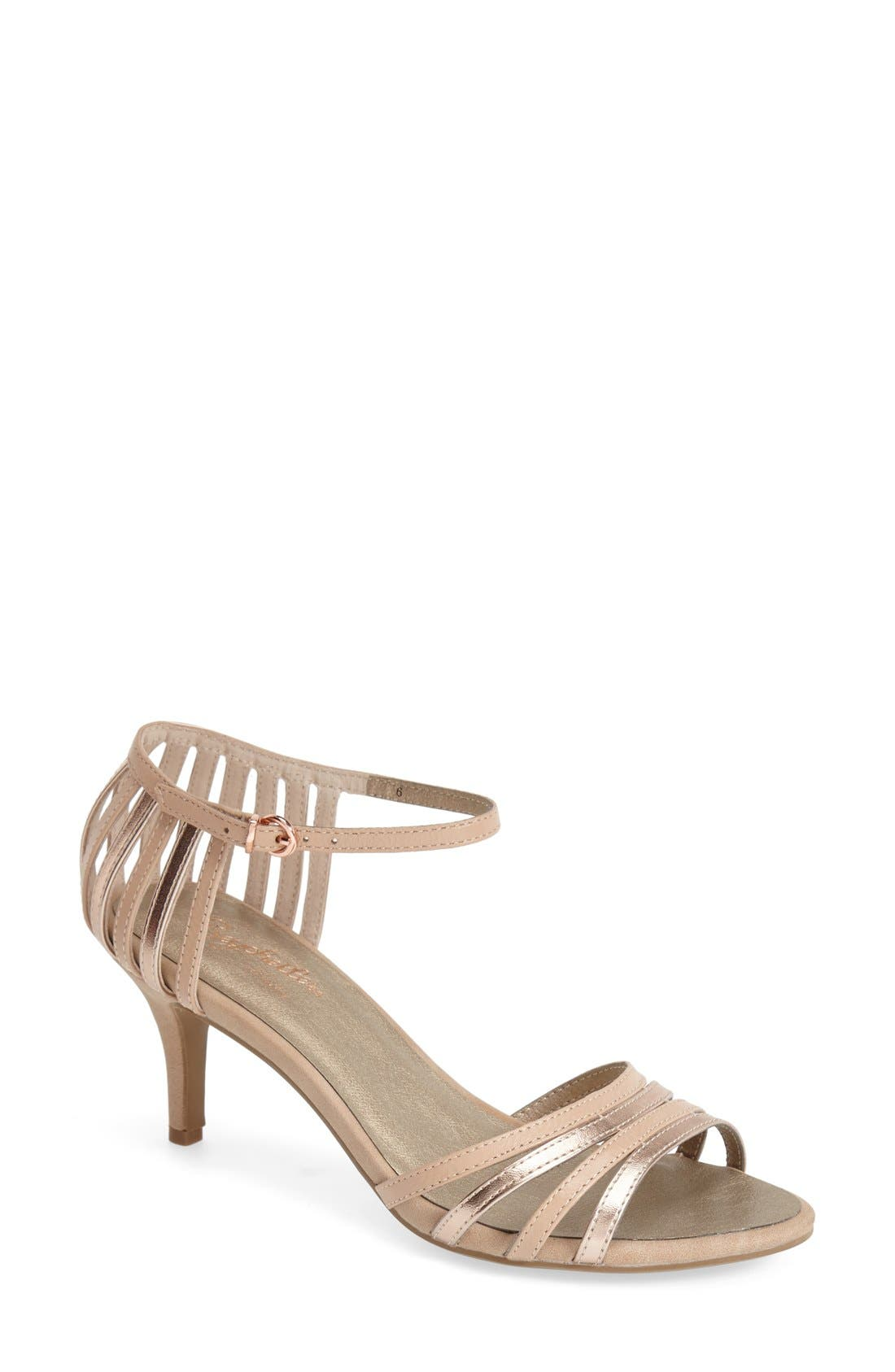 'Song and Dance' Ankle Strap Pump,                             Main thumbnail 2, color,