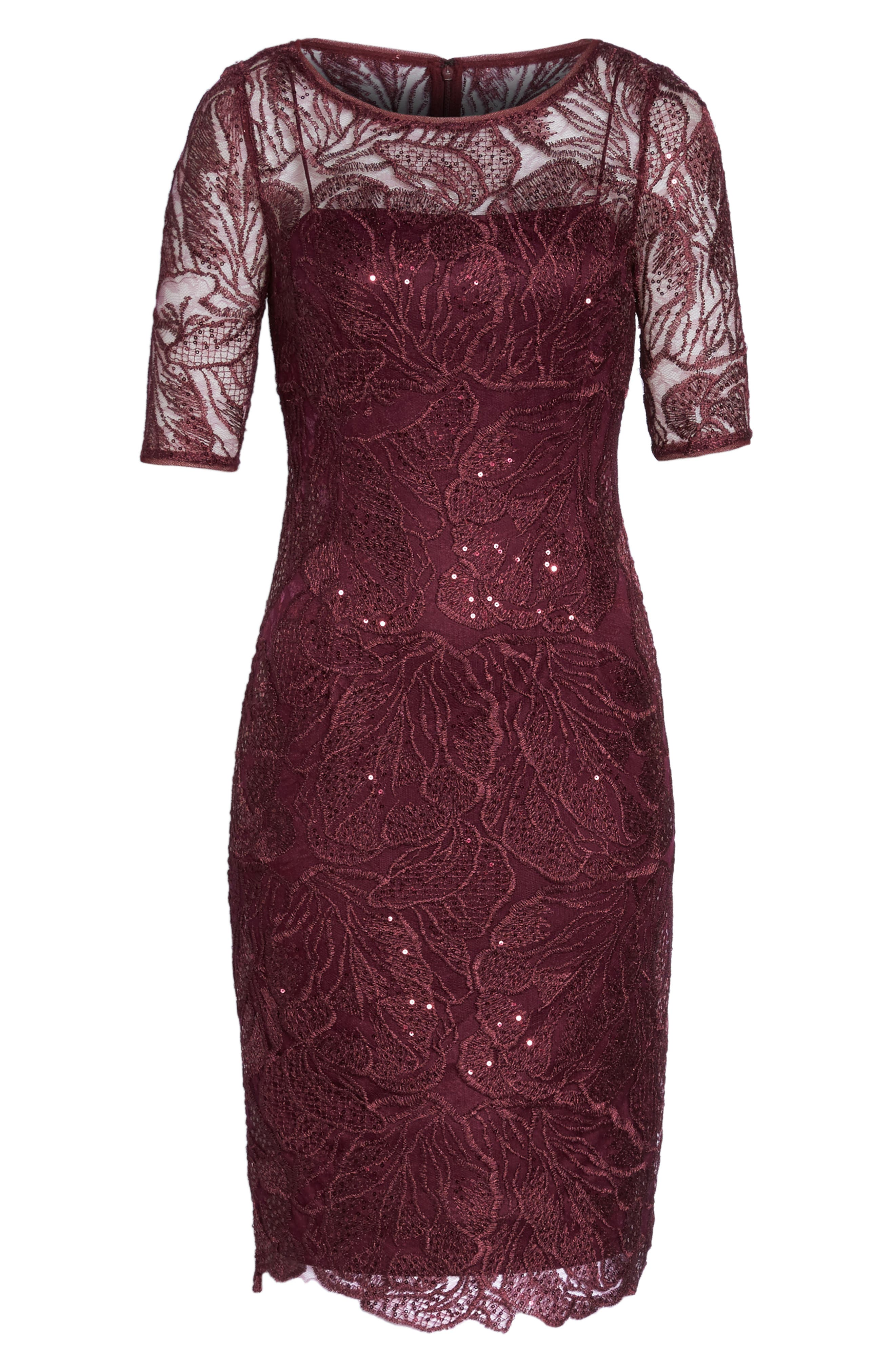Sequin Embellished Sheath Dress,                             Alternate thumbnail 6, color,                             605