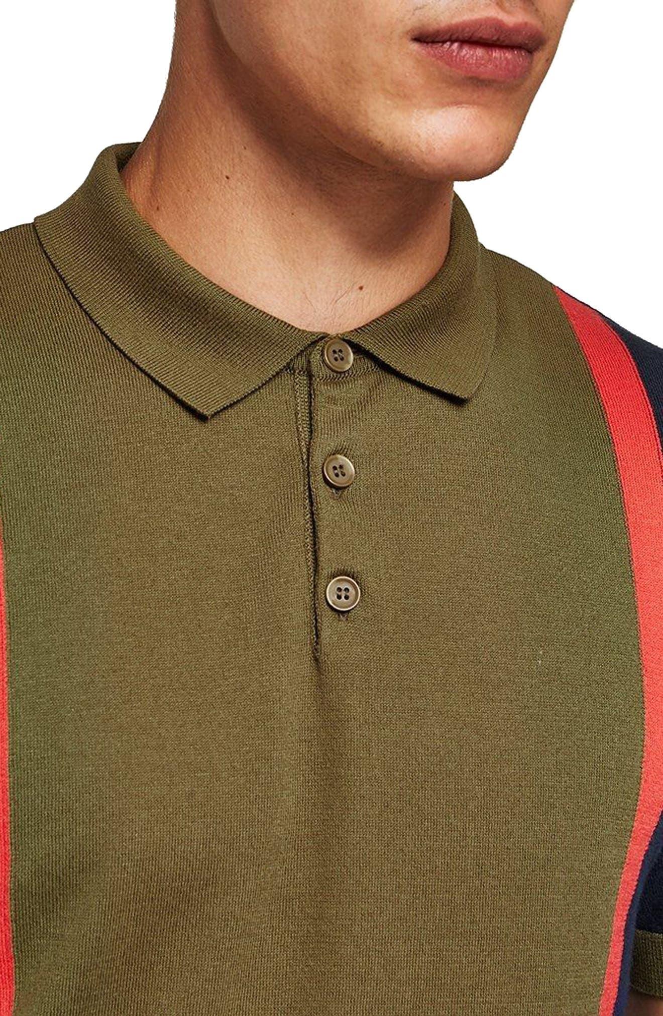 TOPMAN,                             Colorblock Classic Fit Polo,                             Alternate thumbnail 3, color,                             300