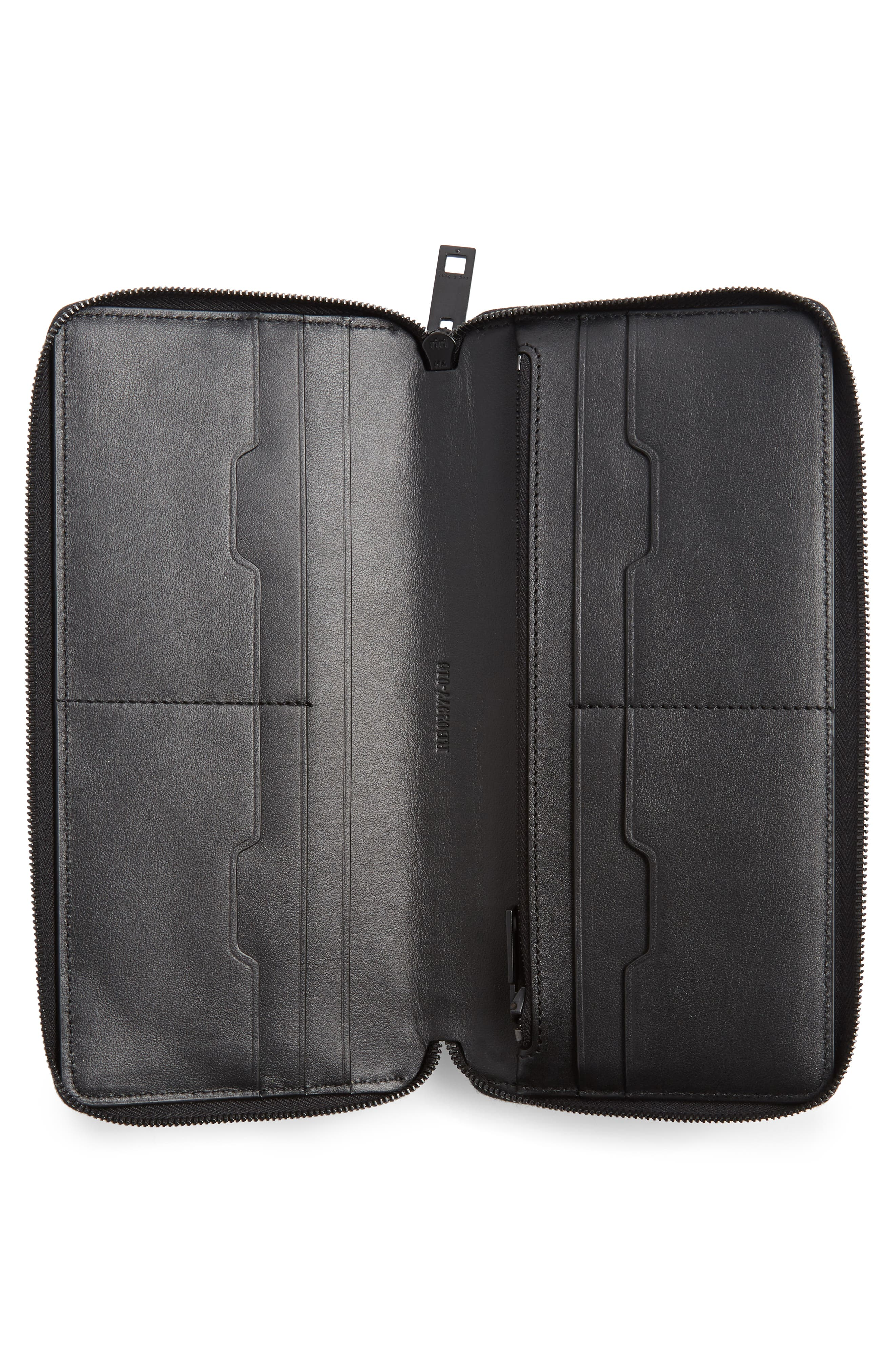 Croc Metallic Lambskin Leather Wallet,                             Alternate thumbnail 4, color,