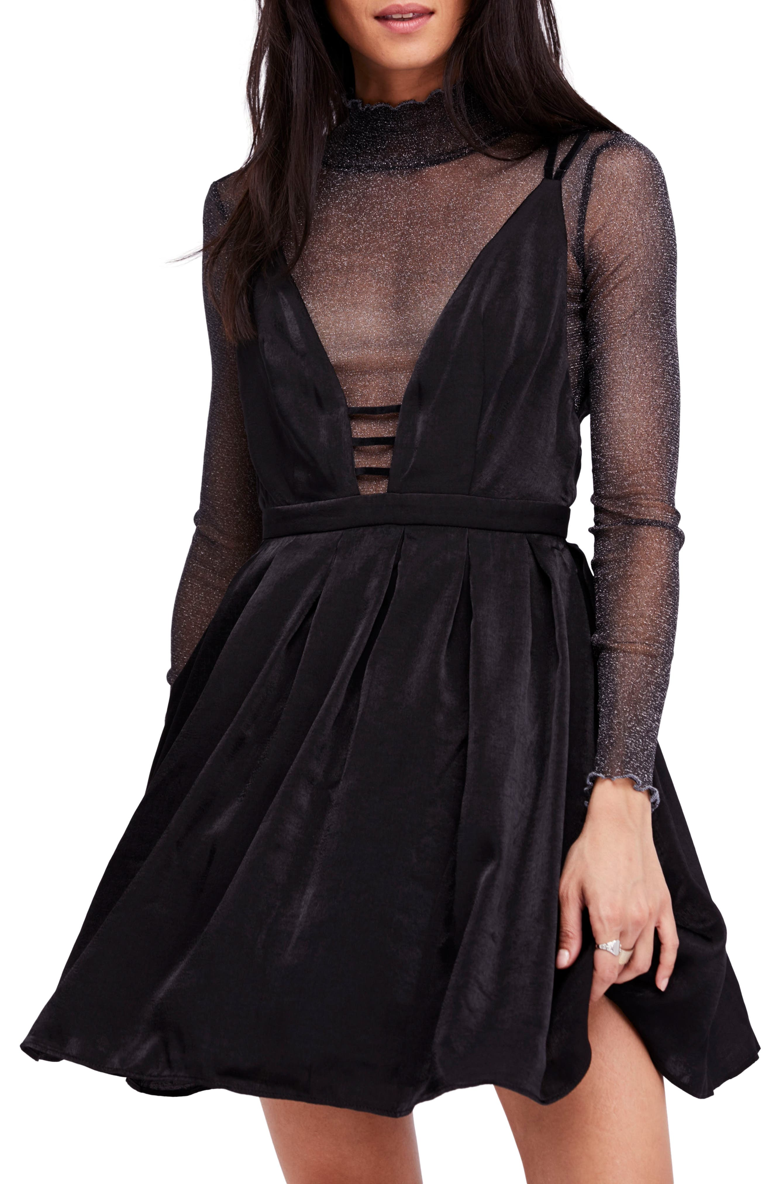 Gabby's Party All Night Minidress,                         Main,                         color, 001