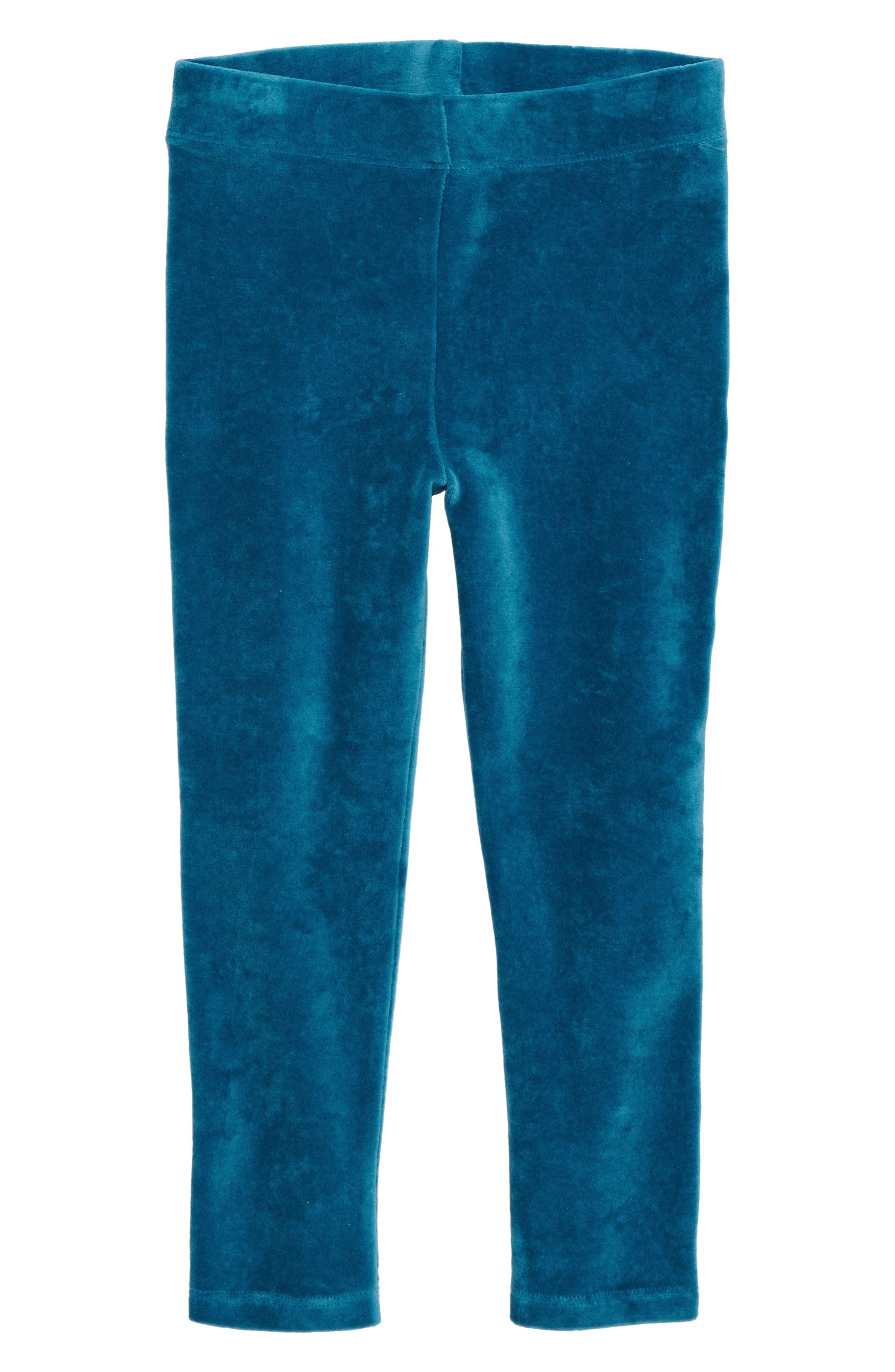 Toddler Girls Mini Boden Velvet Leggings Size 34Y  Blue
