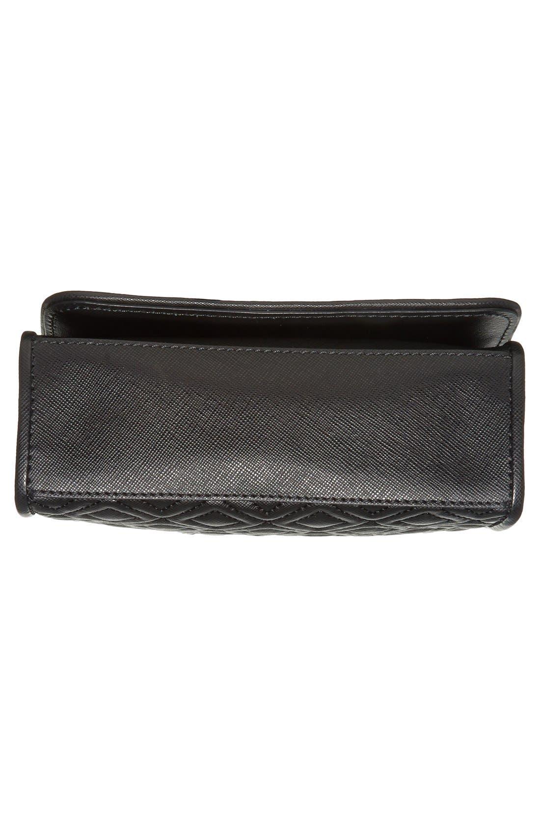 'Mini Fleming' Saffiano Leather Shoulder Bag,                             Alternate thumbnail 3, color,                             001