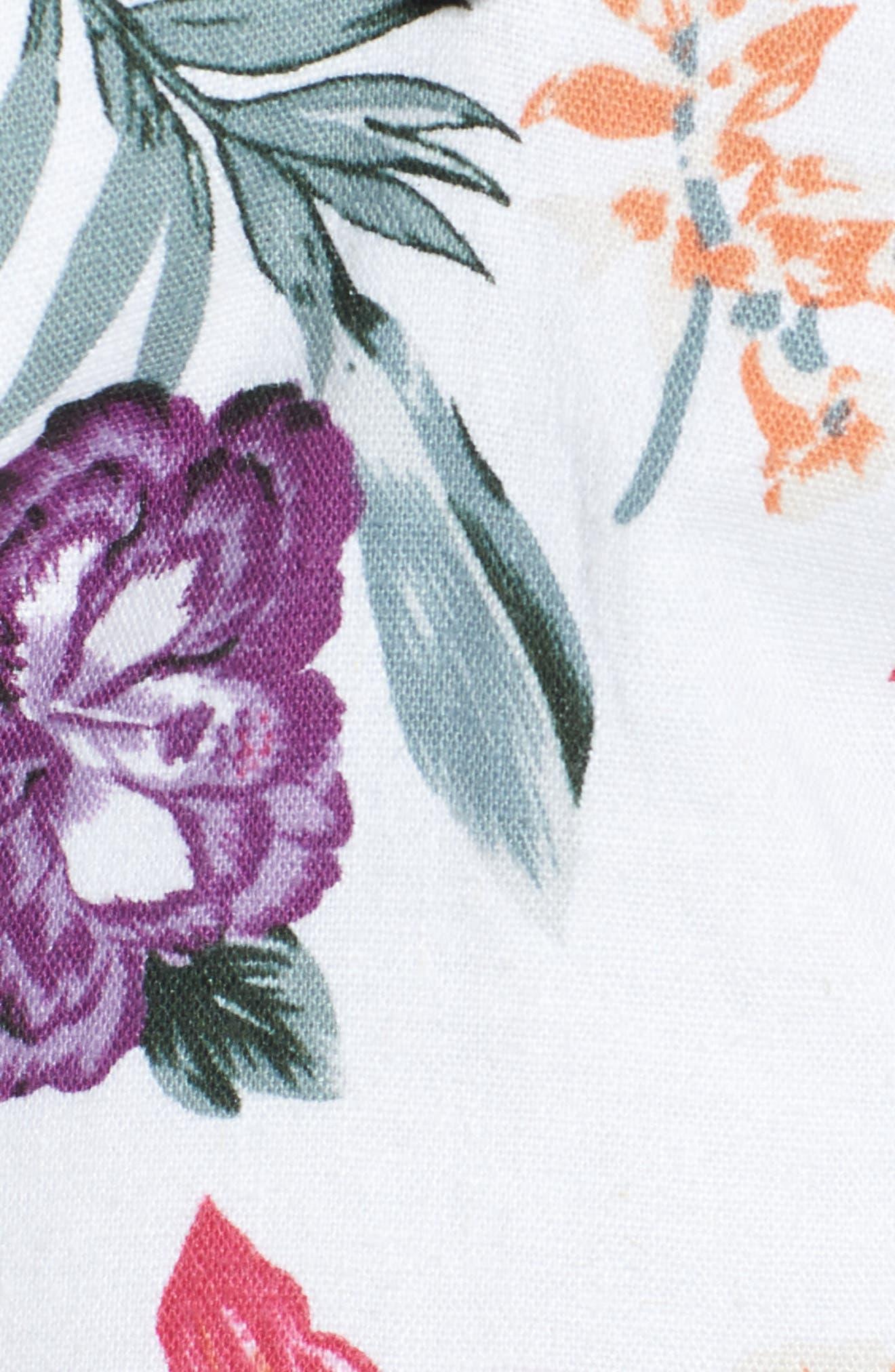 Floral Crop Top,                             Alternate thumbnail 5, color,                             900