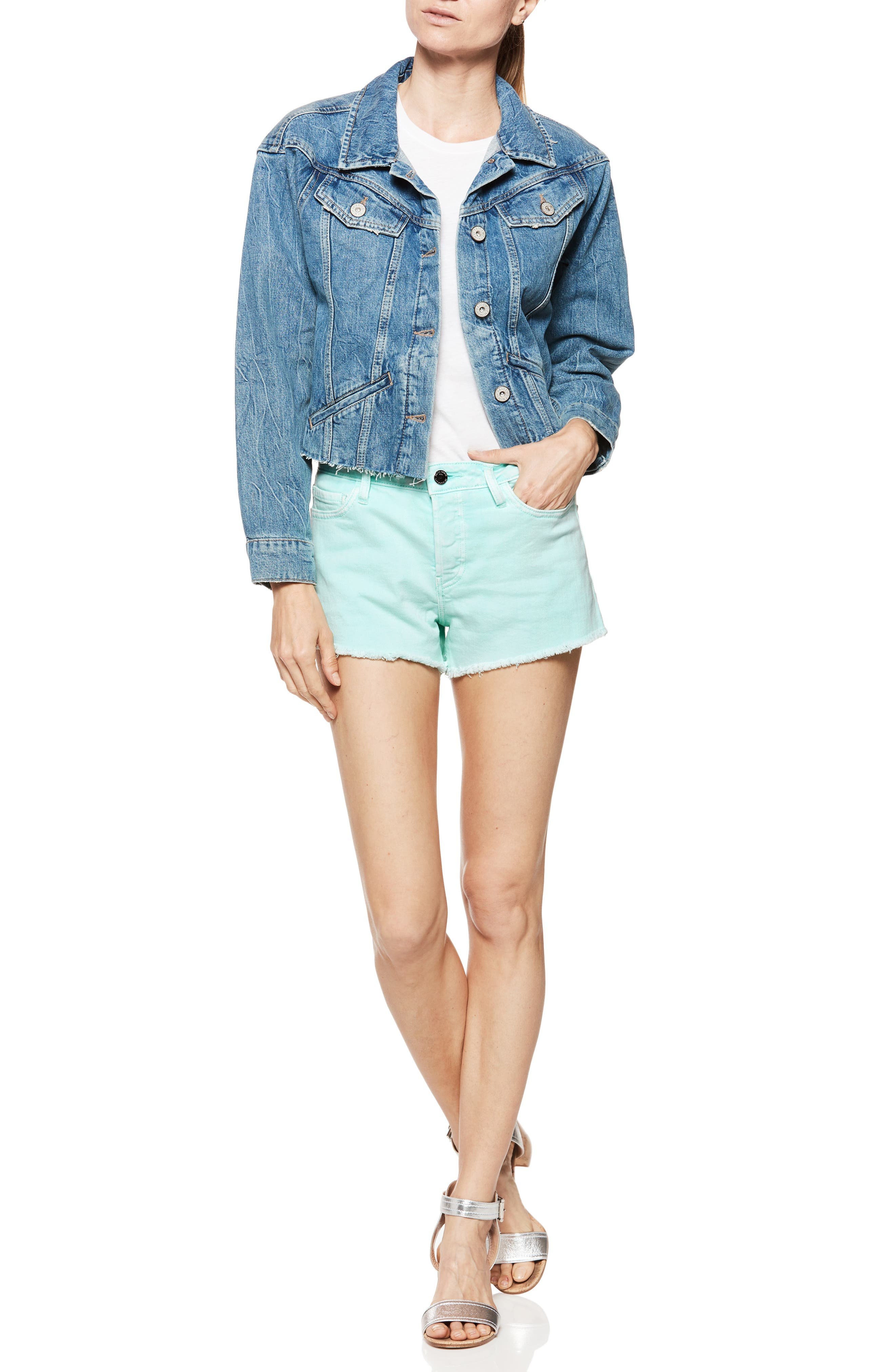 Emmit Relaxed Denim Shorts,                             Alternate thumbnail 5, color,                             430