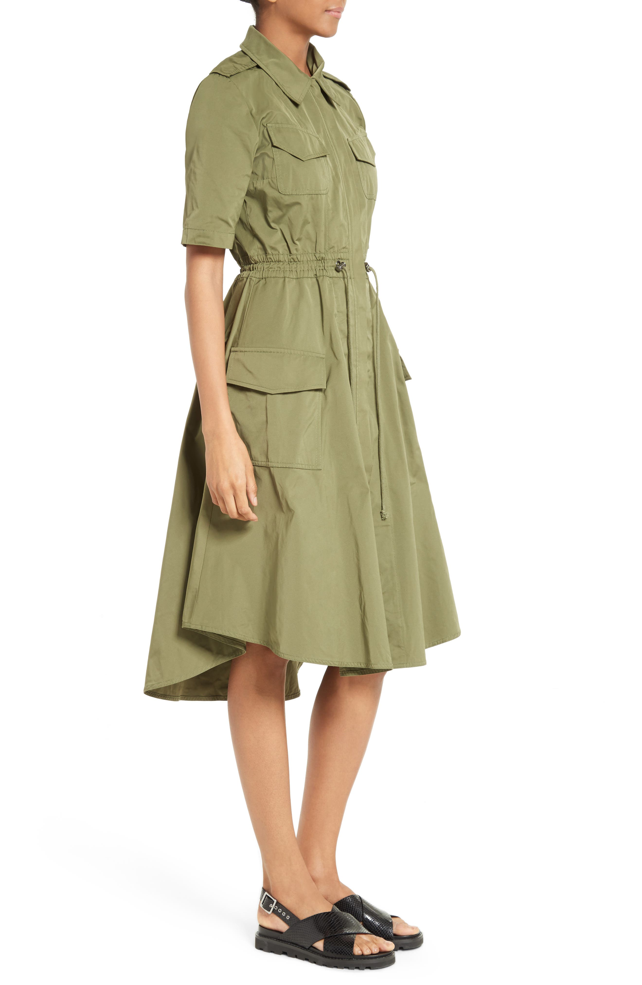 Tech Taffeta Shirtdress,                             Alternate thumbnail 3, color,                             310