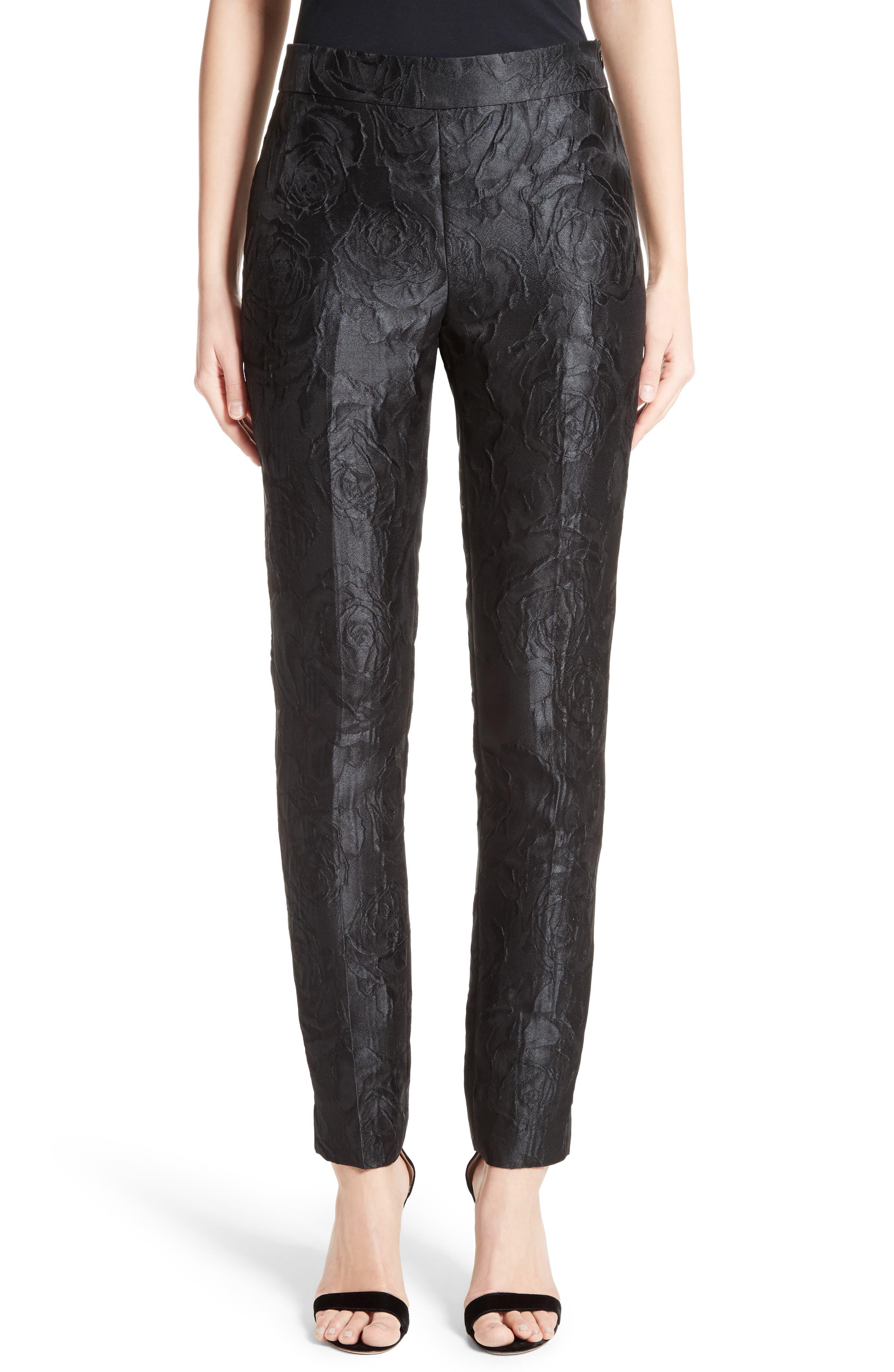 Emma Avani Rose Jacquard Pants,                         Main,                         color, 001