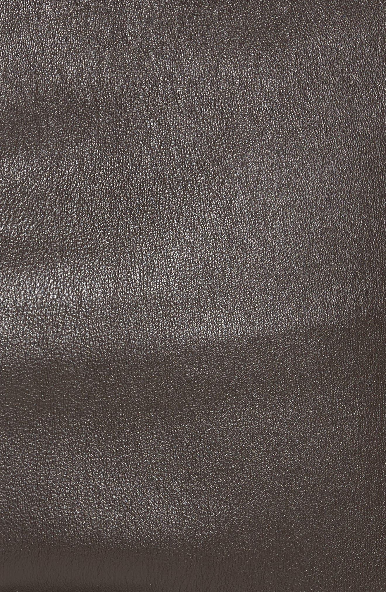 Stretch Leather Leggings,                             Alternate thumbnail 5, color,                             200