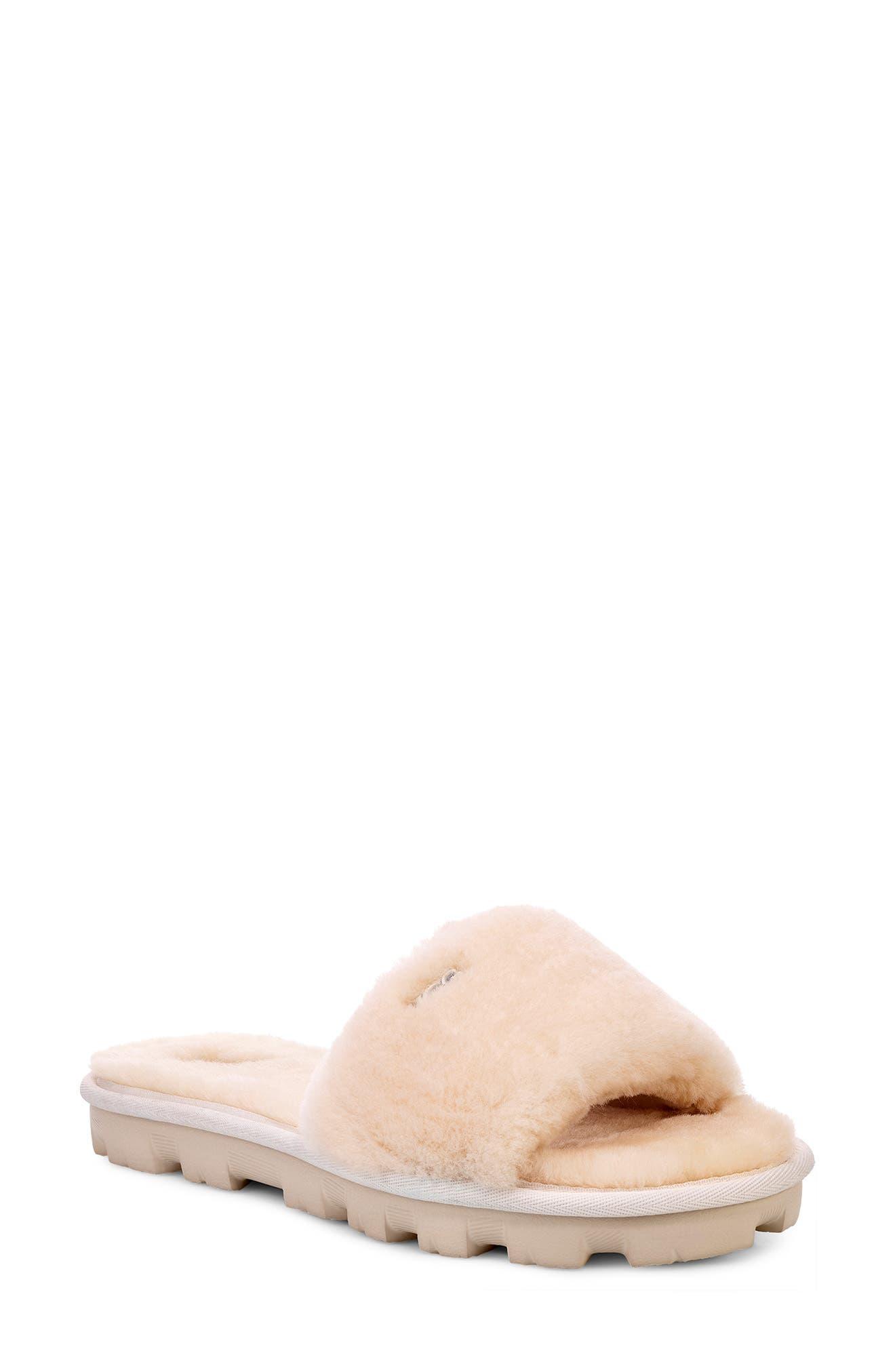 Ugg Cosette Genuine Shearling Slipper, Beige