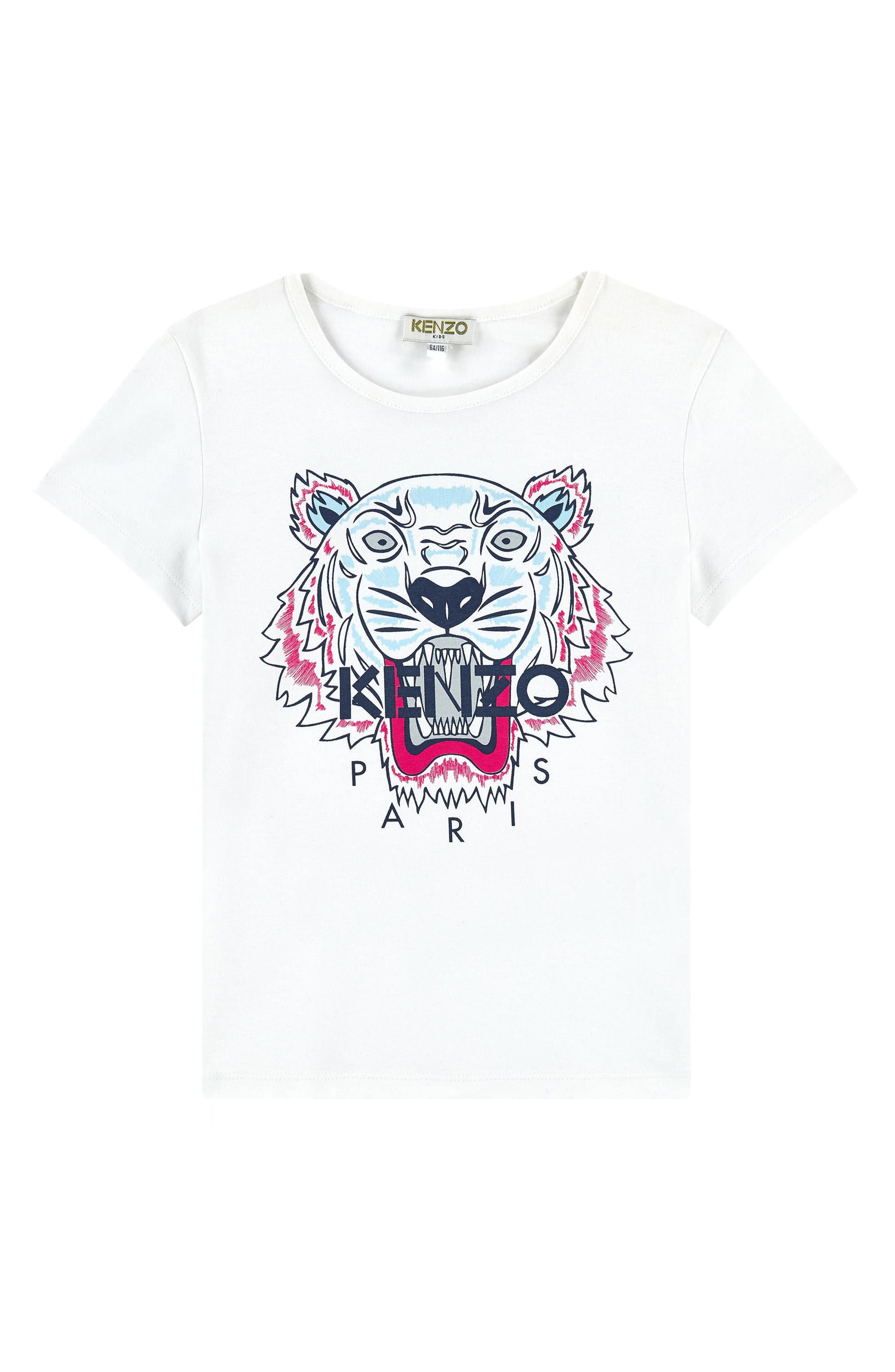 Tiger Graphic Tee,                         Main,                         color, WHITE