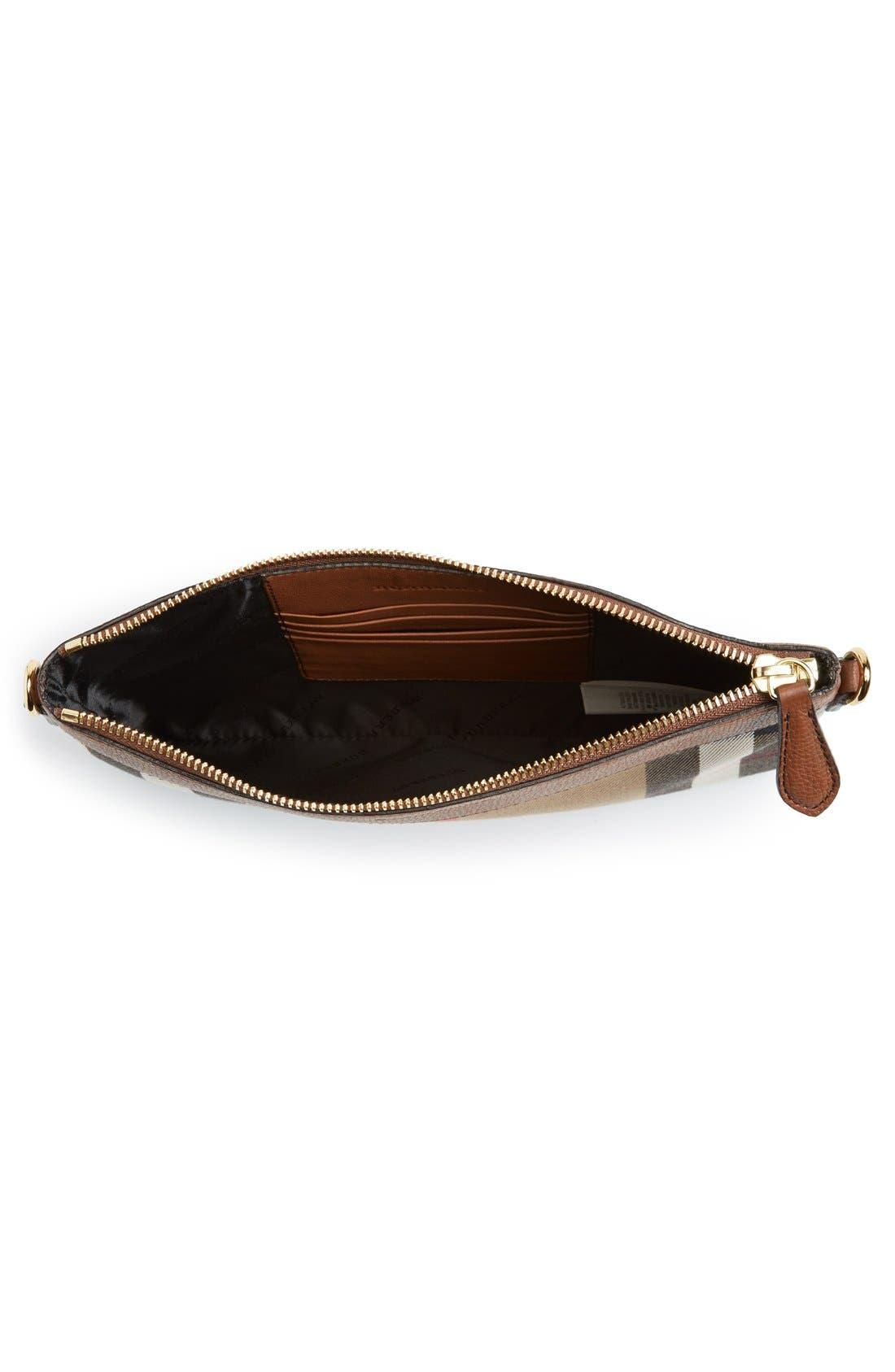 'Peyton - House Check' Crossbody Bag,                             Alternate thumbnail 4, color,                             250
