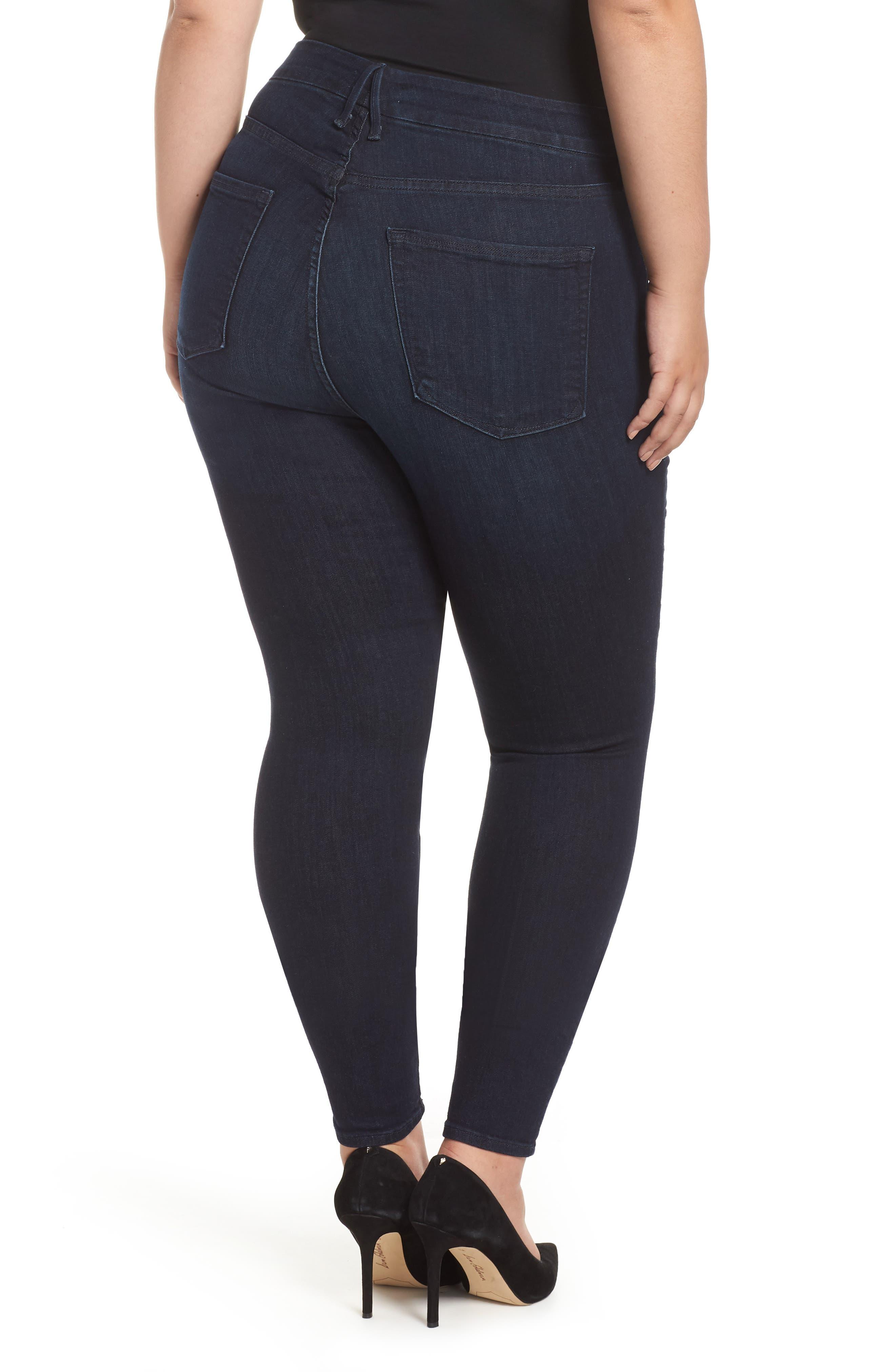 GOOD AMERICAN,                             Good Legs High Waist Skinny Jeans,                             Alternate thumbnail 9, color,                             BLUE224