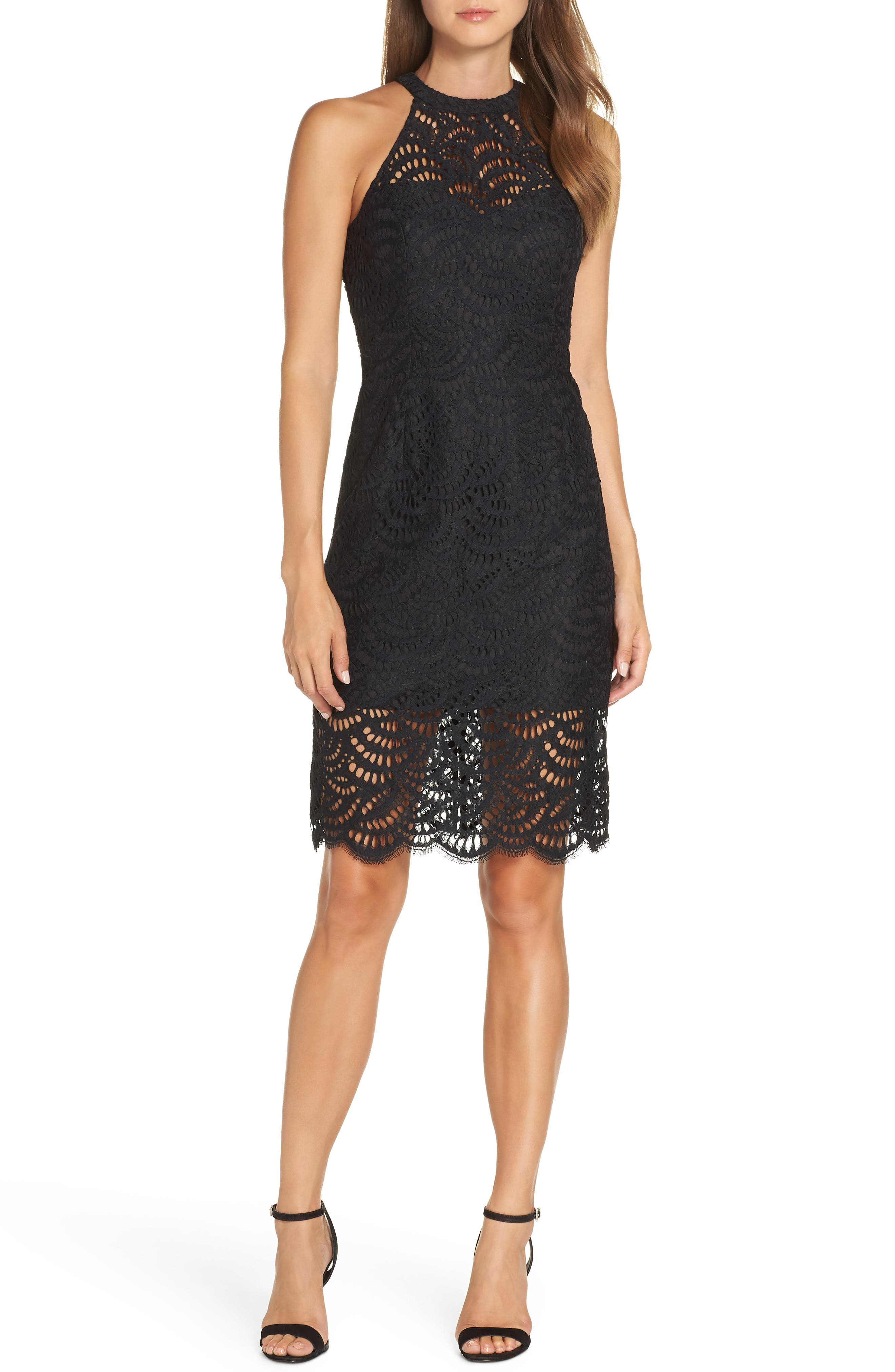 Lilly Pulitzer Kenna Lace Sheath Dress, Black