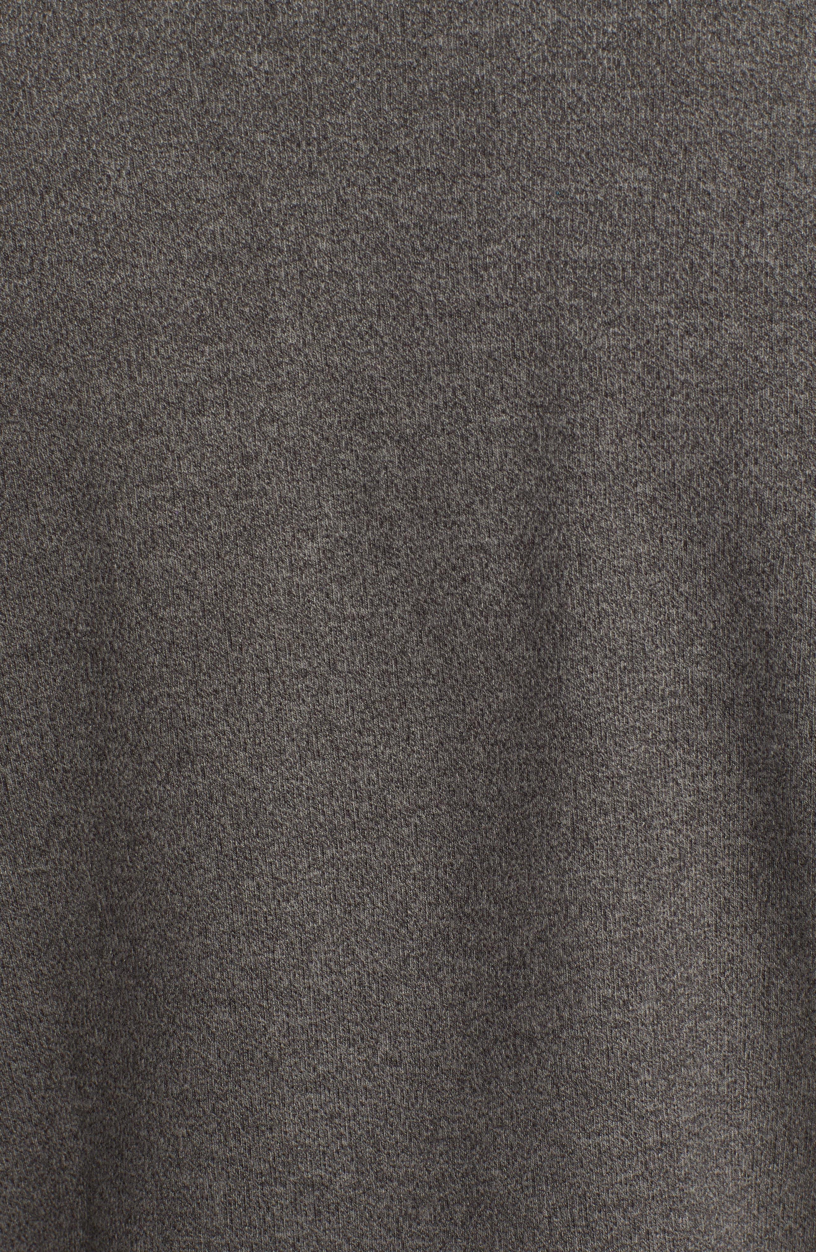 Mélange Fleece Quarter Zip Pullover,                             Alternate thumbnail 5, color,                             SMOKE