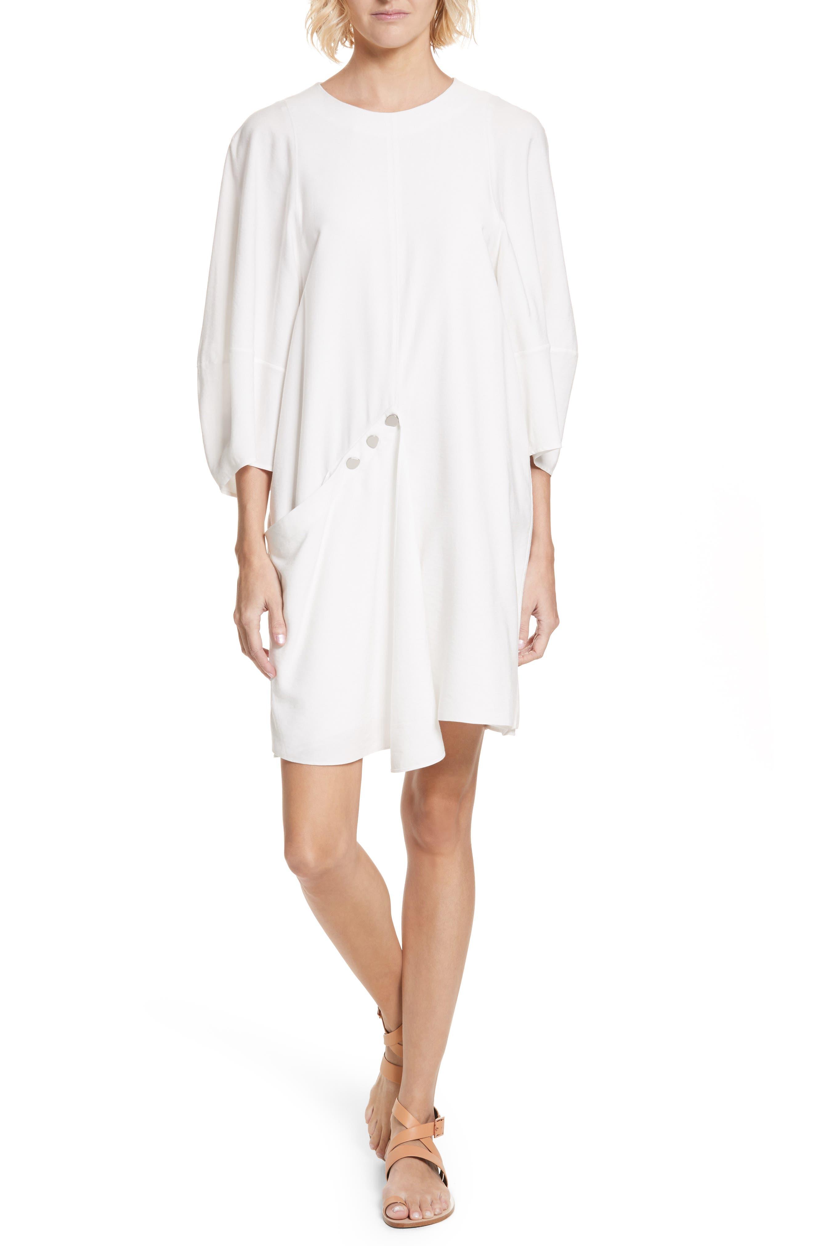 Asymmetrical Flap Front Dress,                             Main thumbnail 1, color,                             100