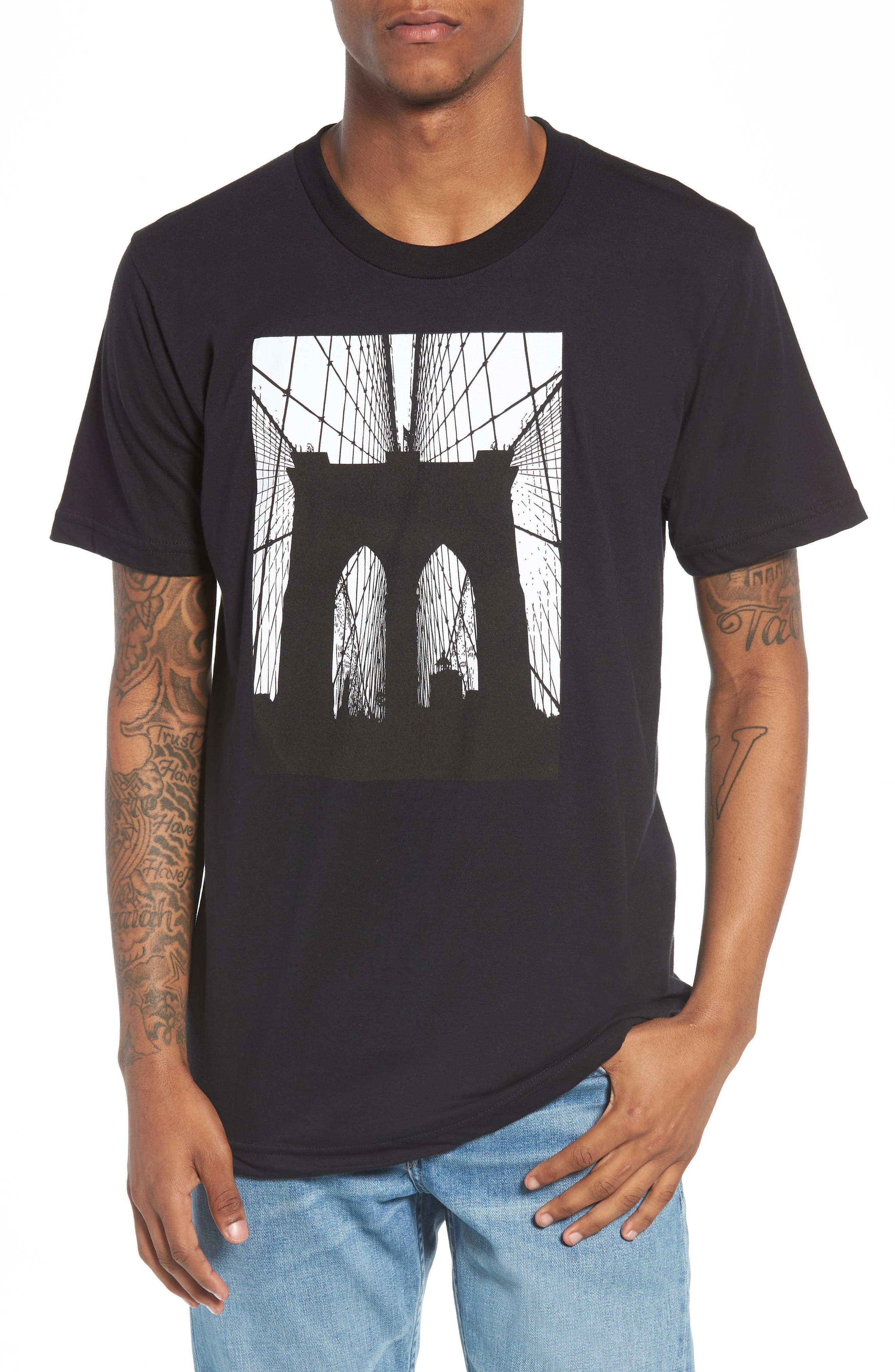 Brooklyn Bridge Graphic T-Shirt,                             Main thumbnail 1, color,