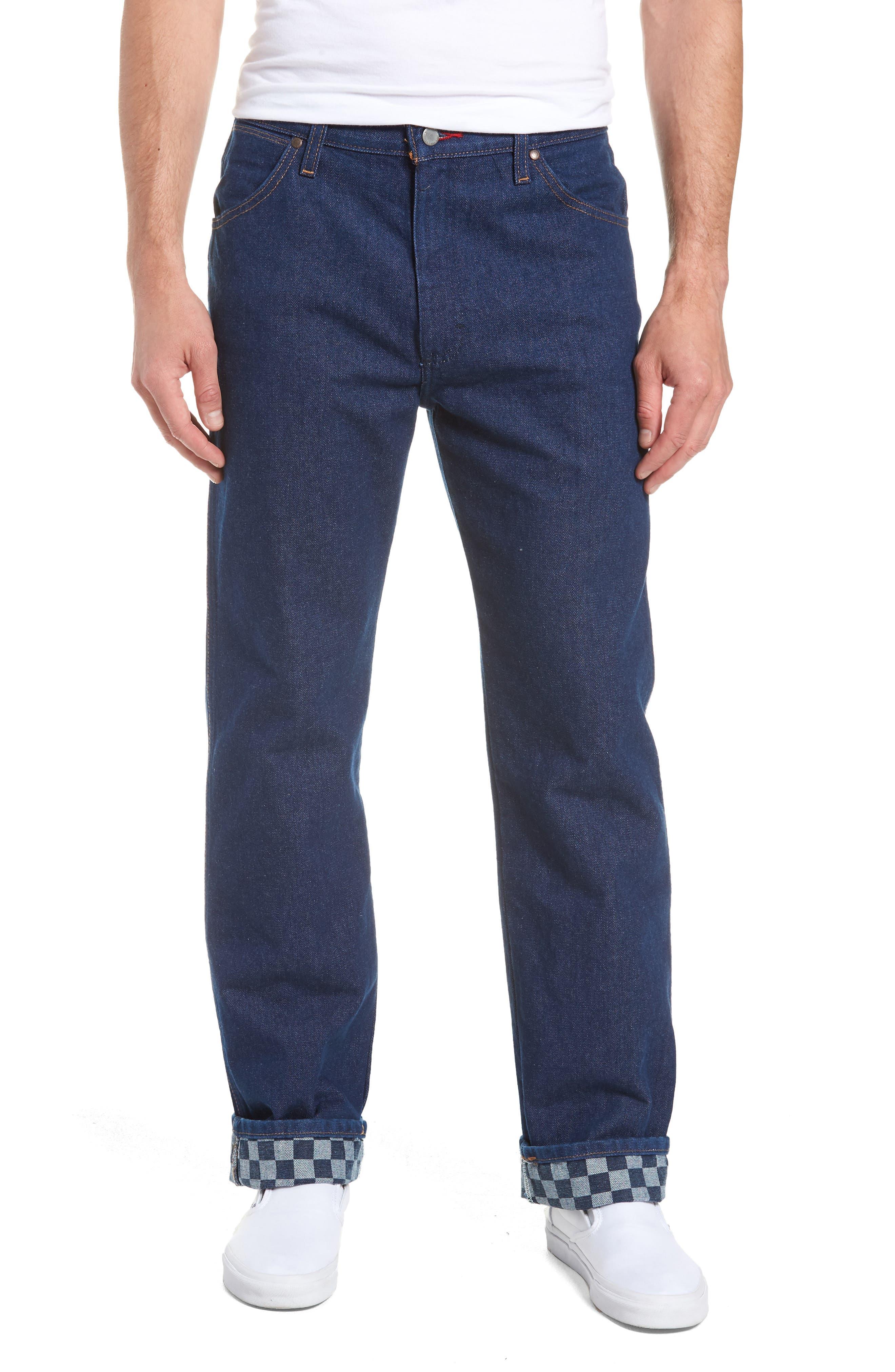 x Wrangler Straight Leg Jeans,                             Main thumbnail 1, color,                             PREWASH INDIGO