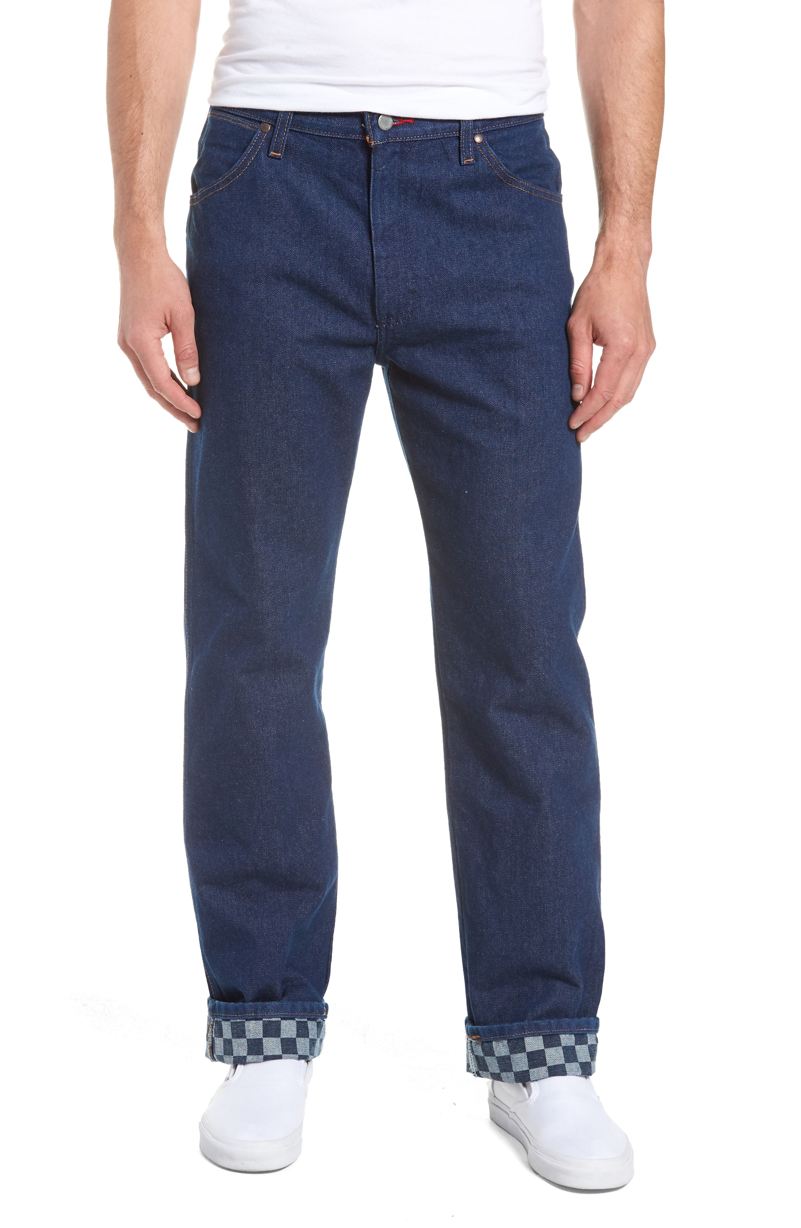 x Wrangler Straight Leg Jeans,                         Main,                         color, PREWASH INDIGO