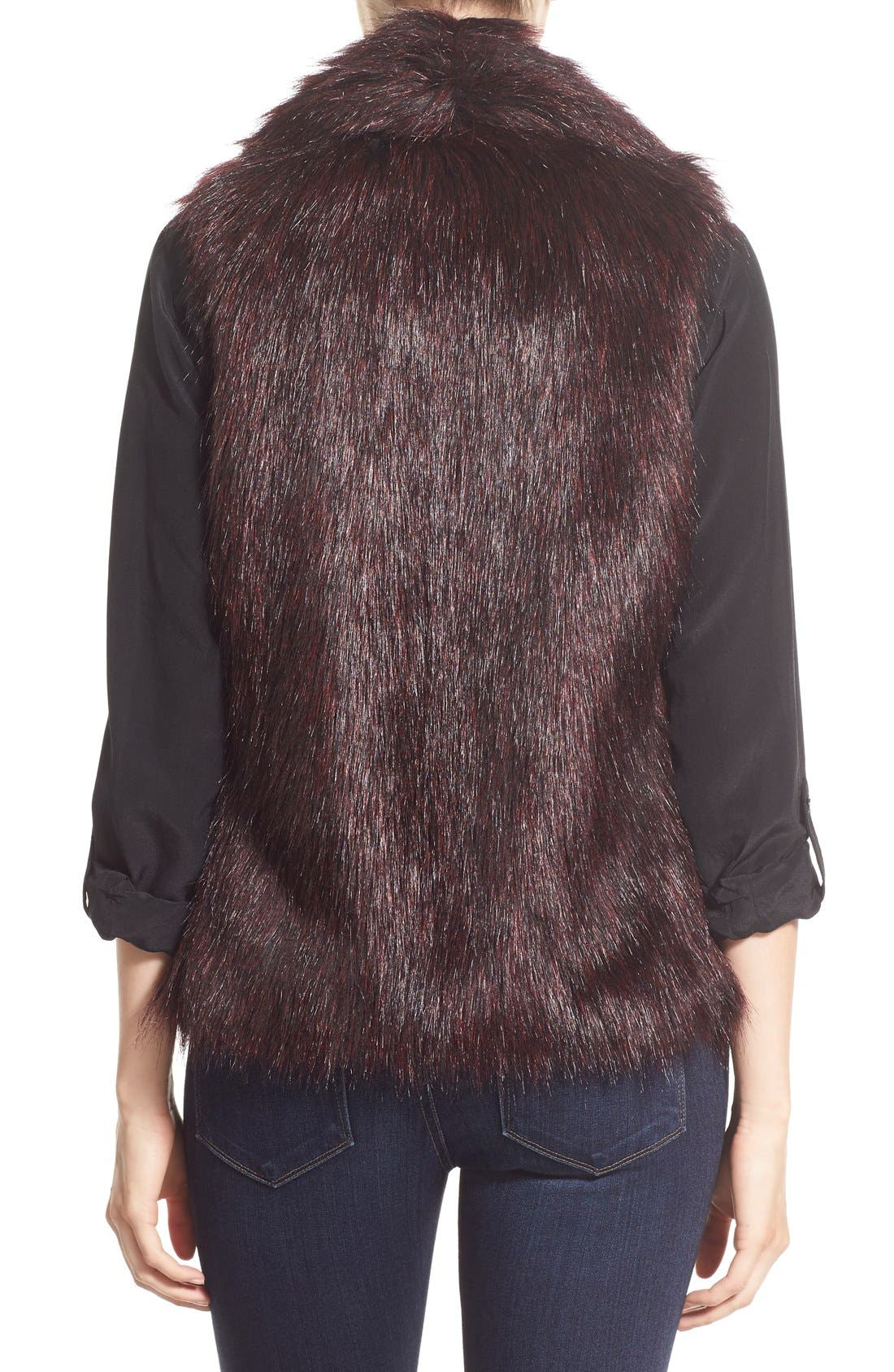 'Emily' Faux Fur Vest,                             Alternate thumbnail 3, color,                             505