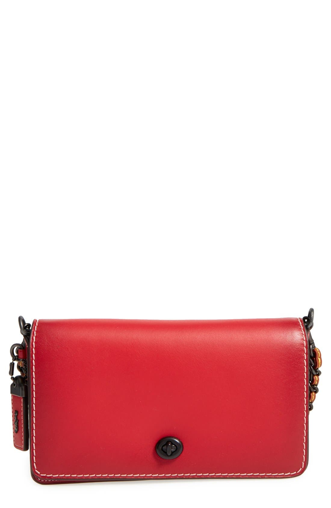 'Dinky' Leather Crossbody Bag,                             Main thumbnail 3, color,