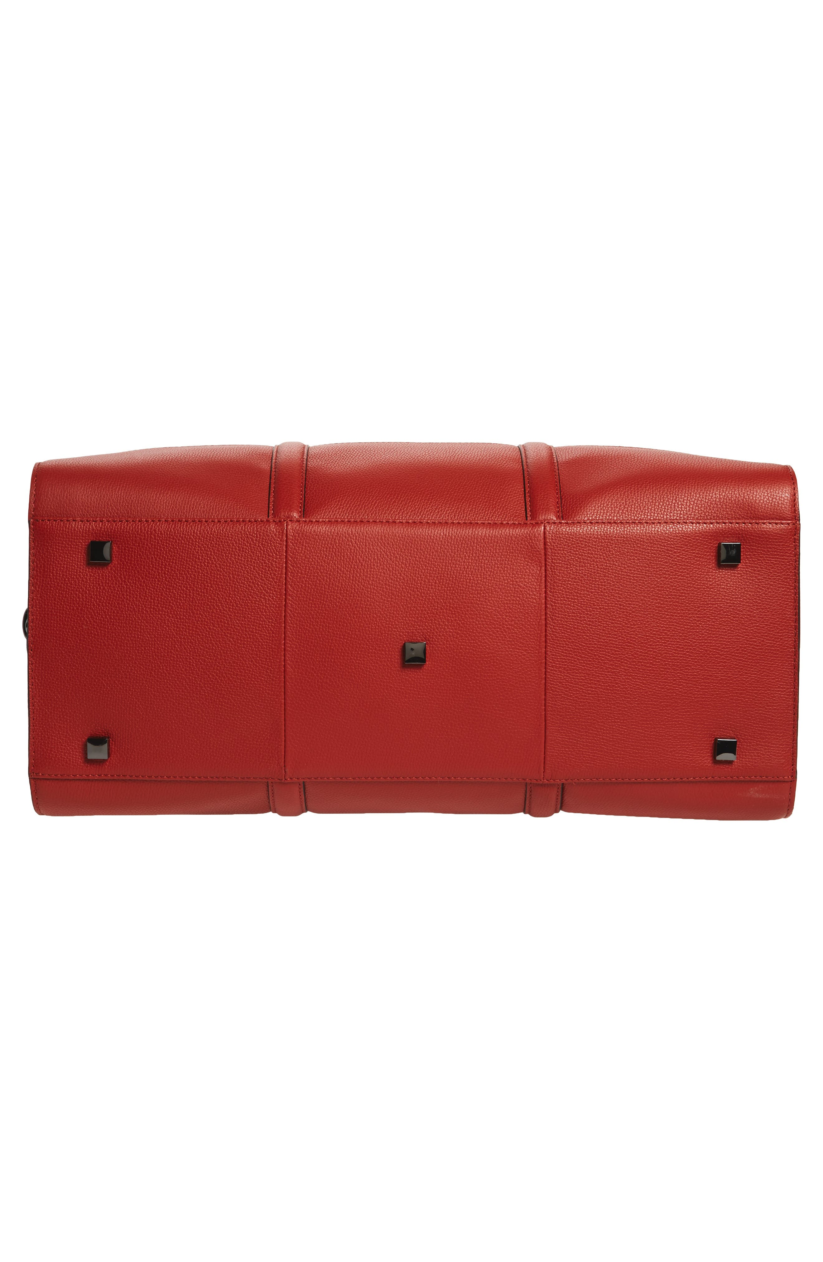 Leather Duffel Bag,                             Alternate thumbnail 18, color,