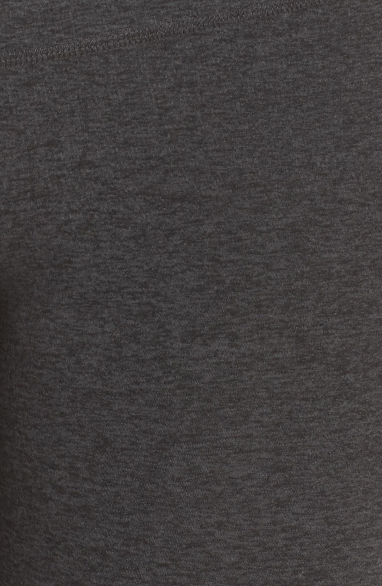 High Waist Midi Leggings,                             Alternate thumbnail 6, color,                             BLACK/ CHARCOAL
