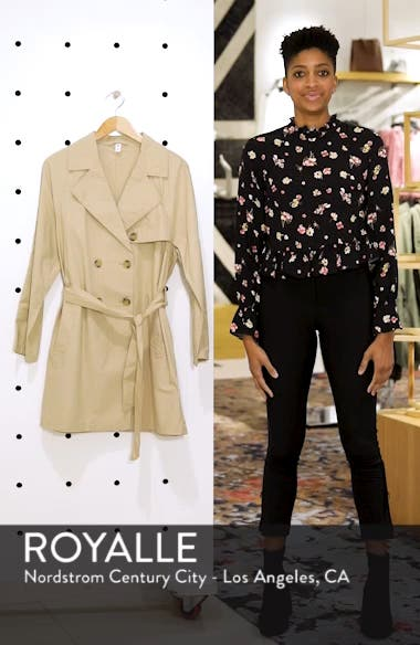 Double Breasted Belted Trench Coat, sales video thumbnail