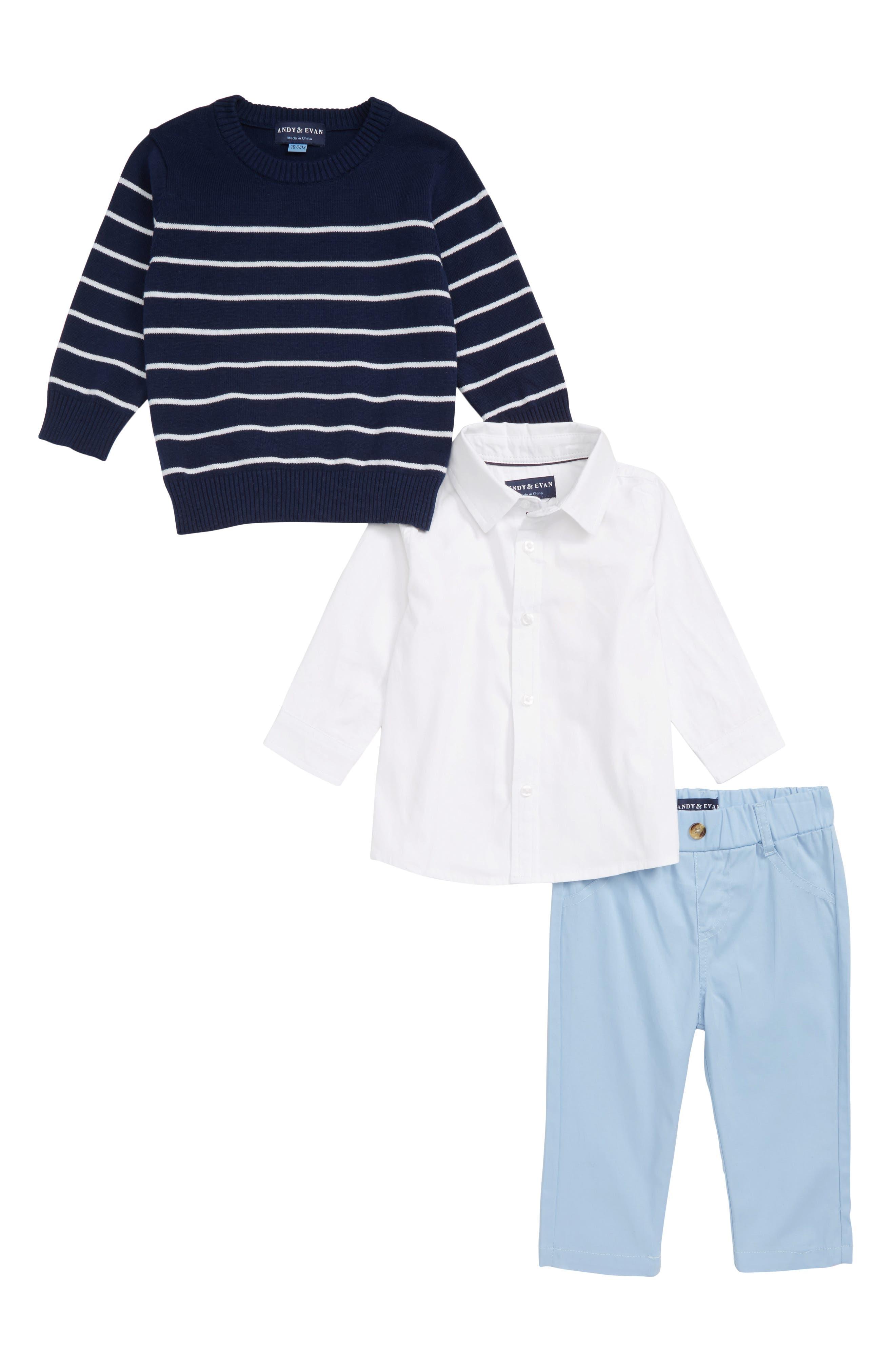 Infant Boys Andy  Evan Shirt Sweater  Pants Set