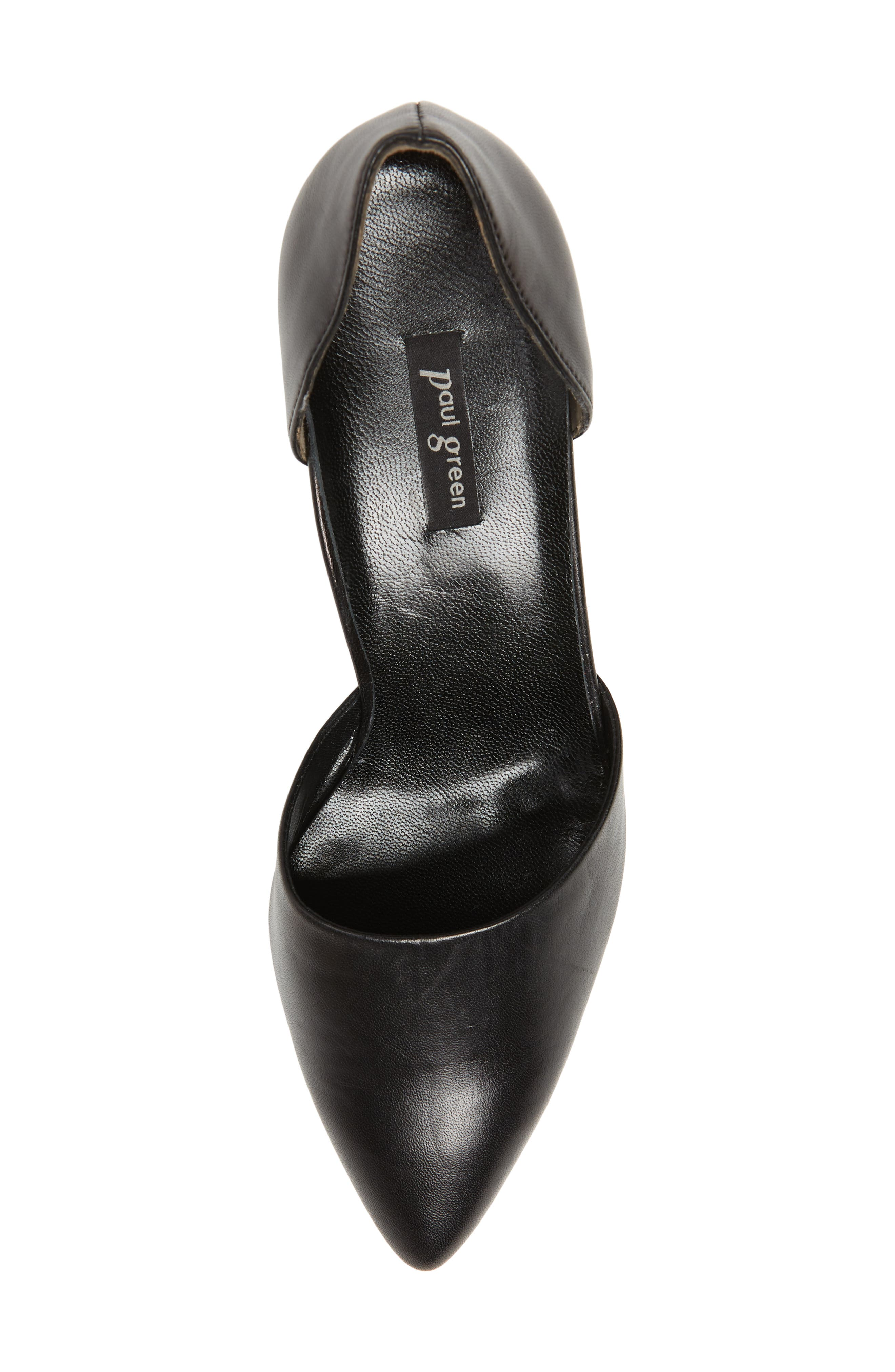 Shey Pointy Toe Pump,                             Alternate thumbnail 5, color,                             BLACK LEATHER