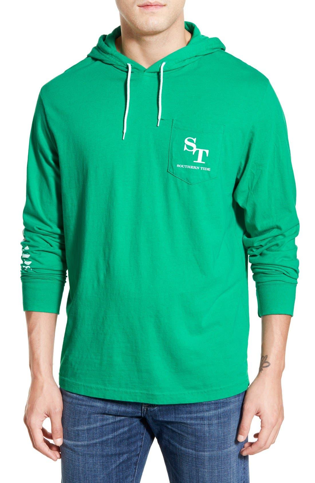 Graphic Hooded Long Sleeve T-Shirt,                             Main thumbnail 3, color,
