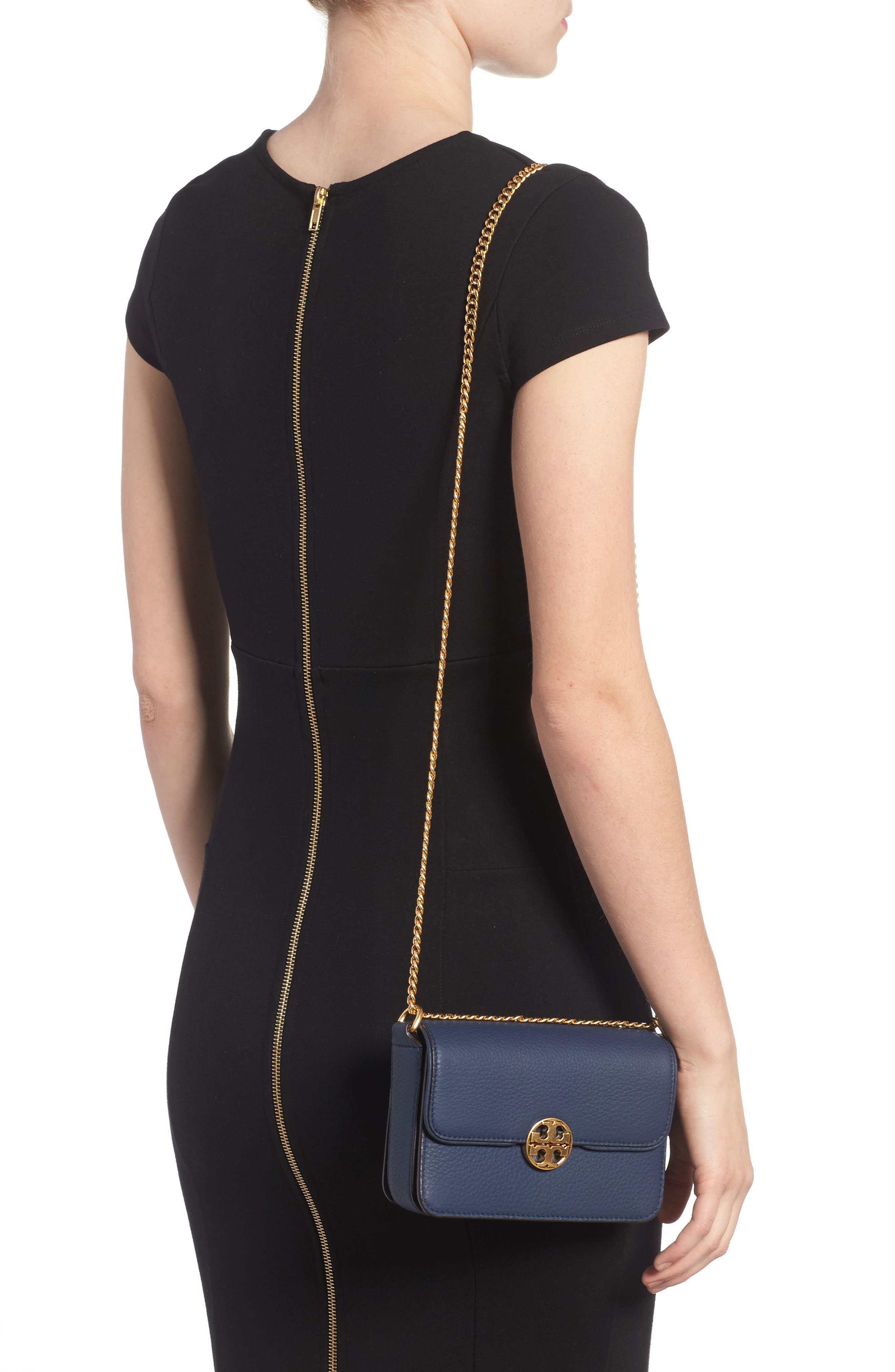Mini Chelsea Leather Convertible Crossbody Bag,                             Alternate thumbnail 5, color,
