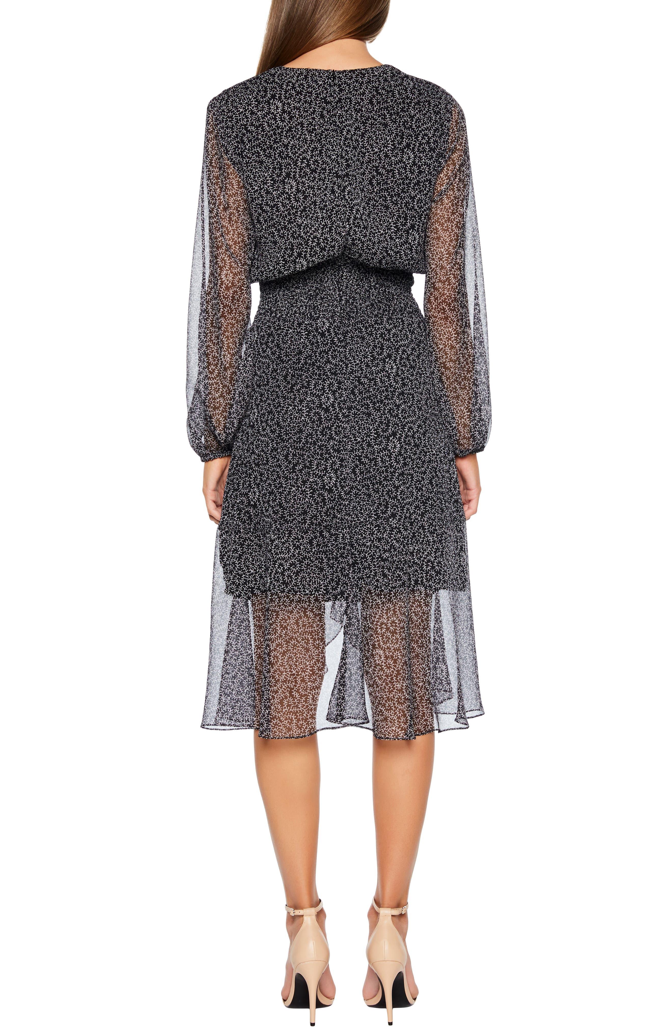 BARDOT,                             Sally Faux Chiffon Wrap Dress,                             Alternate thumbnail 2, color,                             ABSTRACT PAISLEY